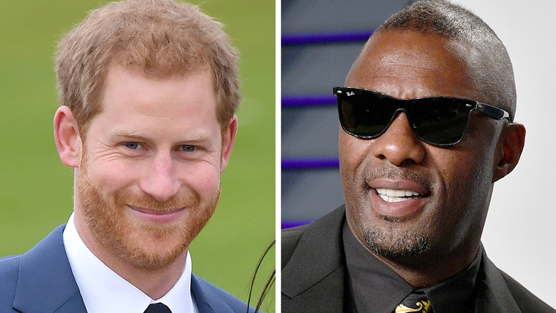 Actor and DJ Idris Elba, right, says Prince Harry casually asked him to man the turntables at the royal wedding.