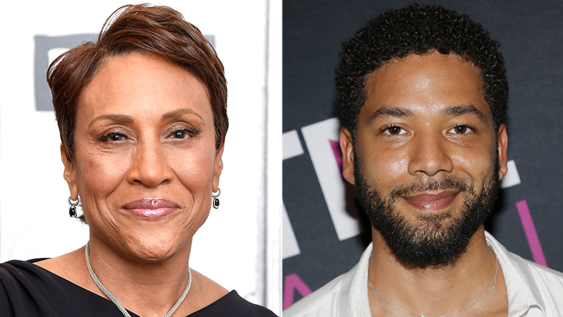 """""""Good Morning America"""" co-host Robin Roberts was accused of going easy on Jussie Smollett."""