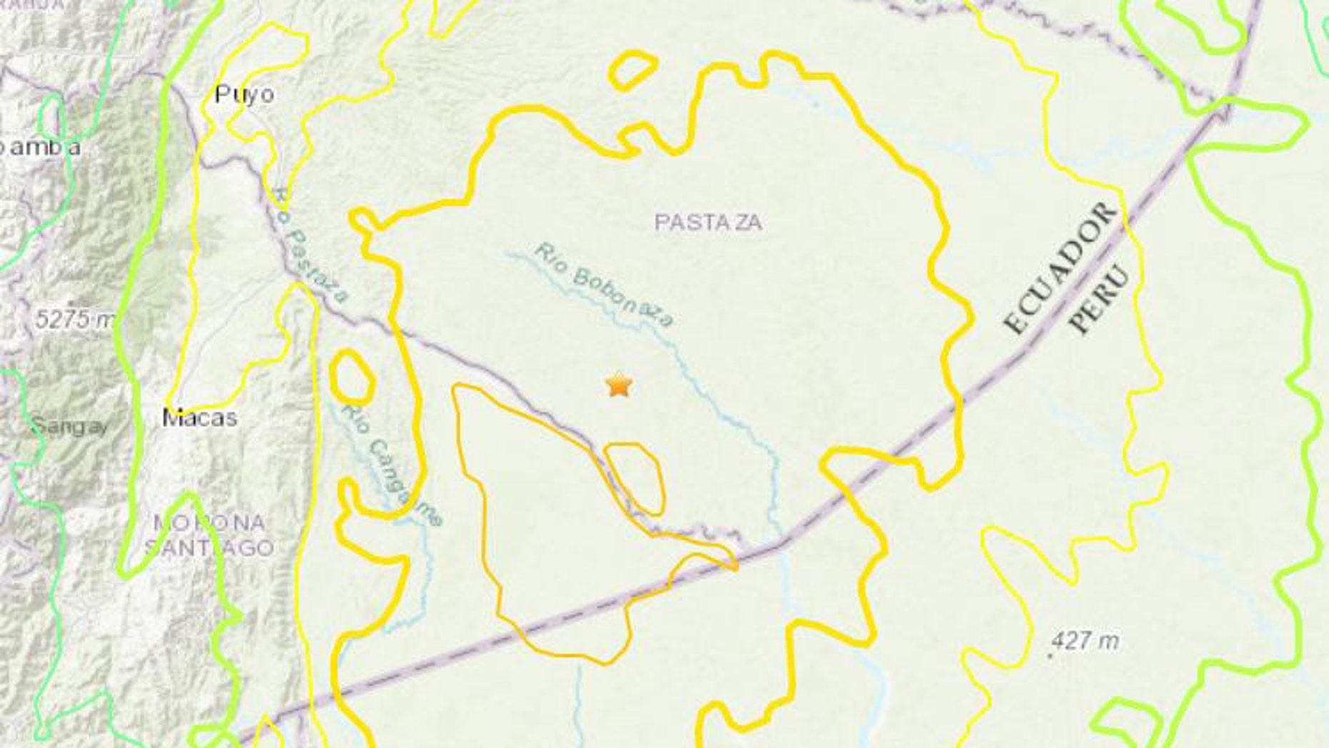 7.5-magnitude earthquake struck near the border between Ecuador and Peru
