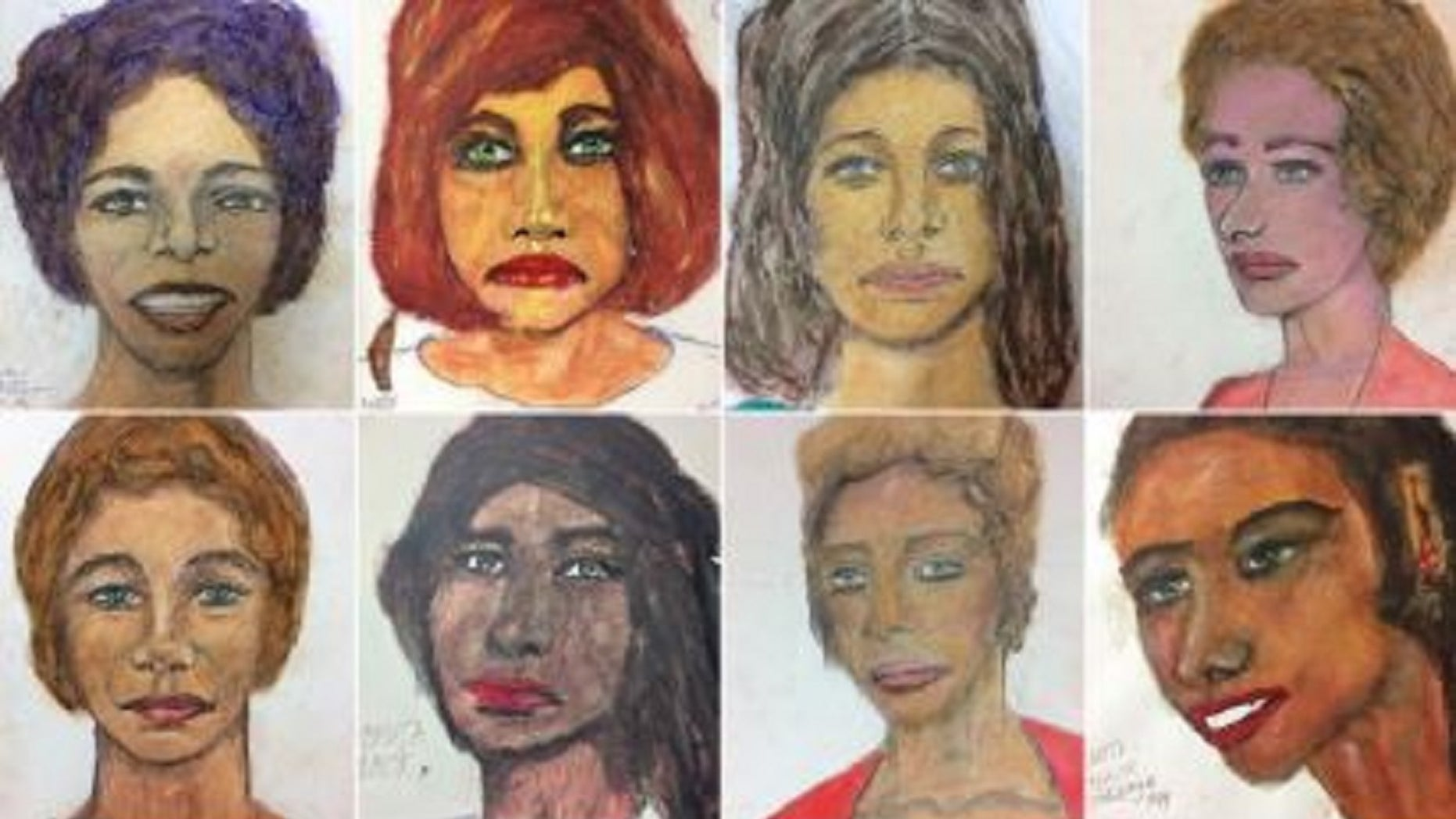 Serial Killer Samuel Little has made portraits of 16 of his victims who remain unknown.