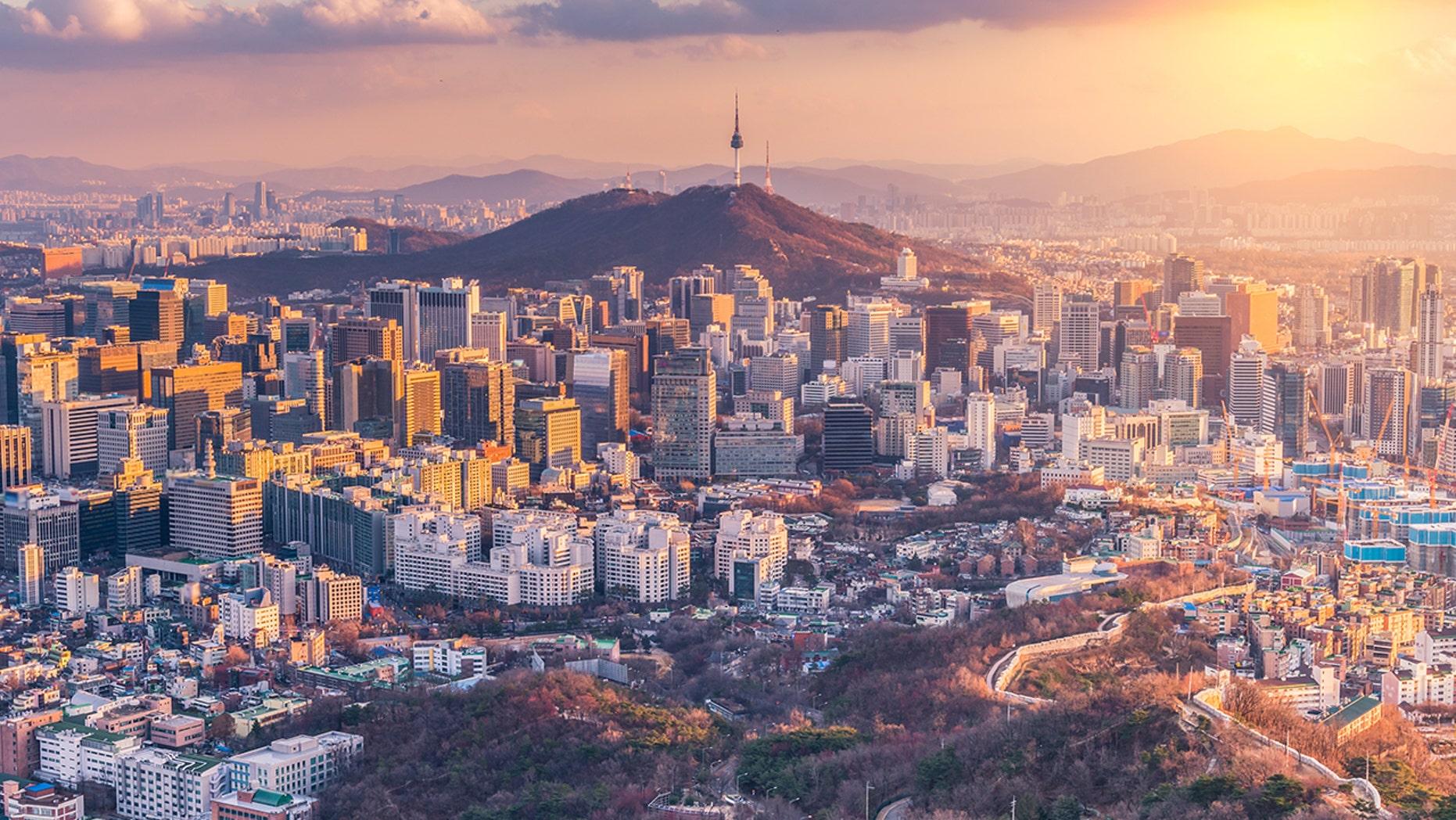 FILE -- Sunset at Seoul City Skyline, South Korea (iStock)