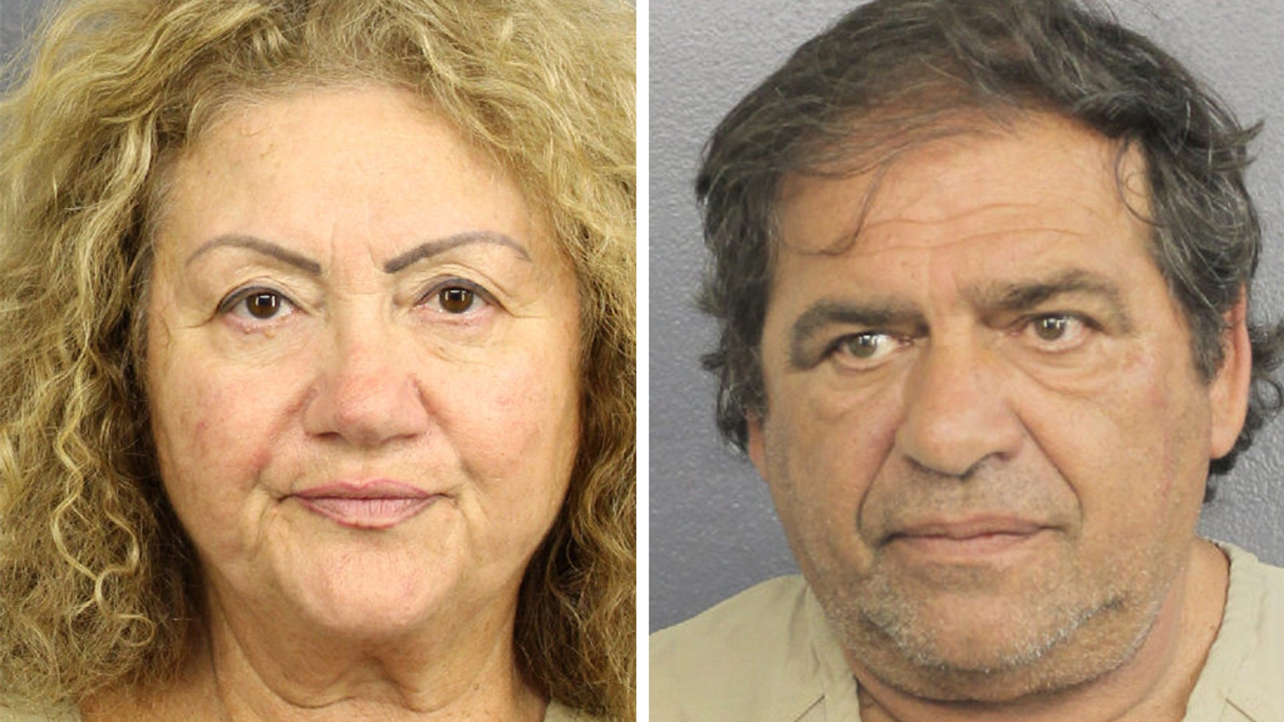Ida Shafir, 67, and Nick Bogomolsky, 61, were arrested at Fort Lauderdale-Hollywood International Airport in Florida on Tuesday, according to the sheriff's office.