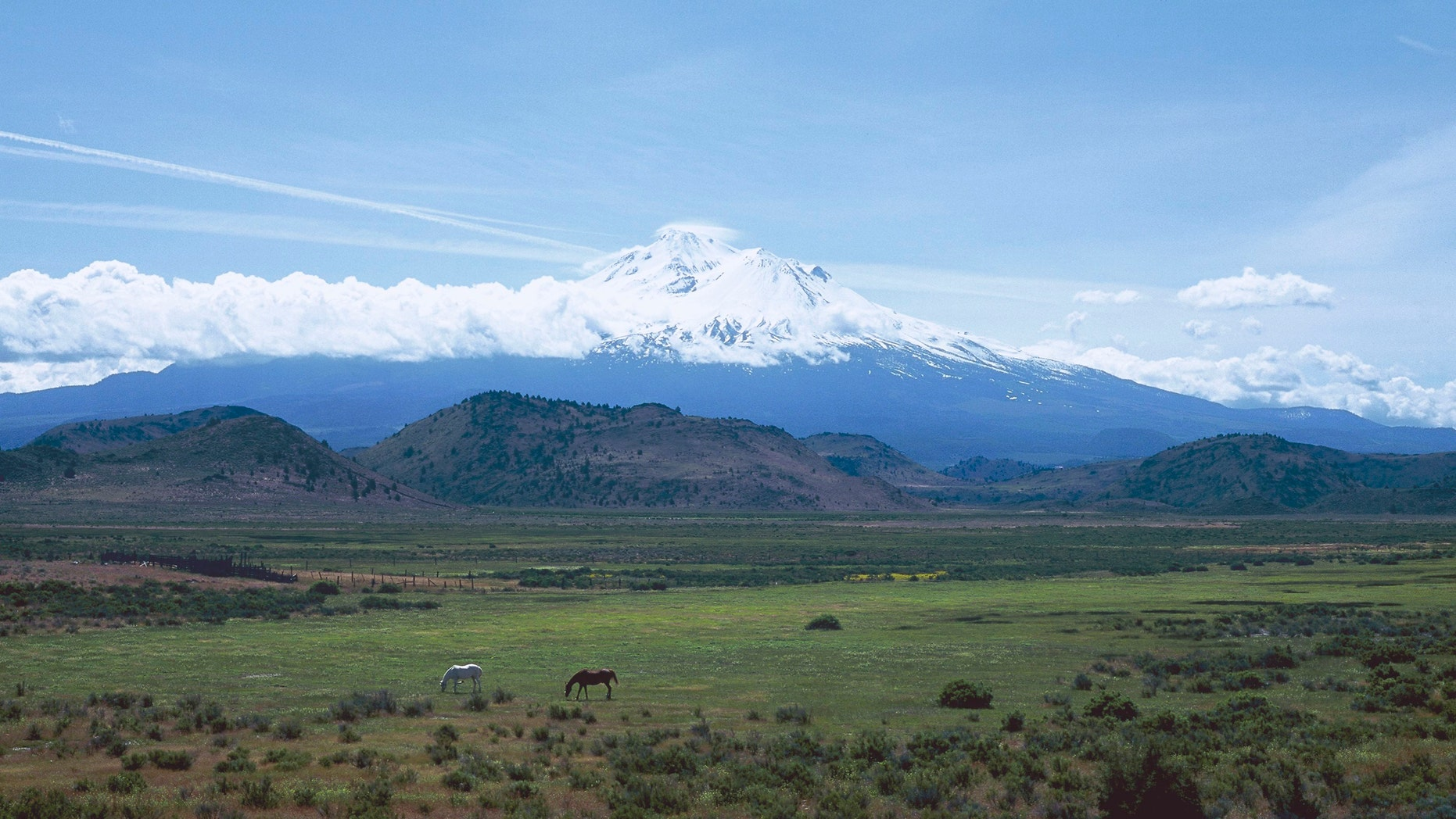 File photo - the Shasta volcano in California, United States