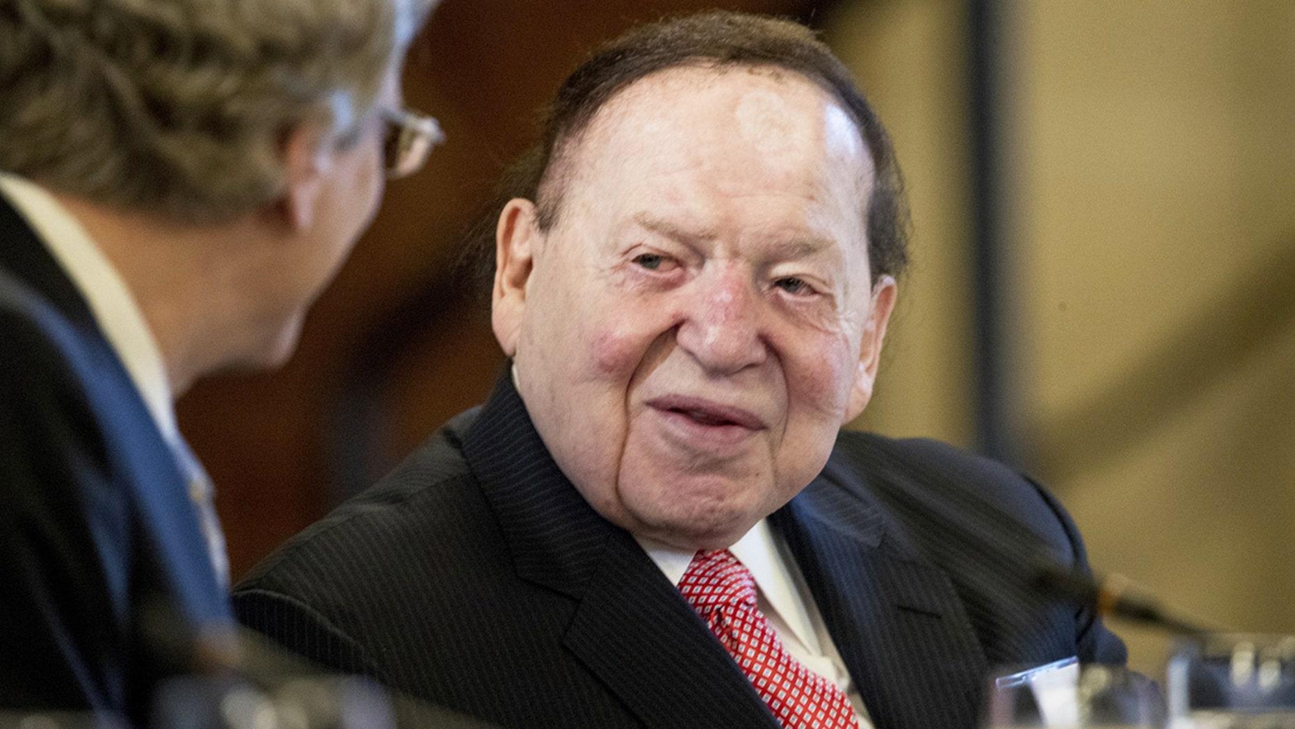 Billionaire Sheldon Adelson ha...