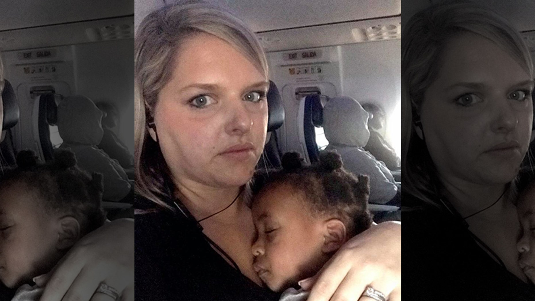 """A mom penned an open letter to the """"annoyed"""" passenger in front of her on a recent flight."""