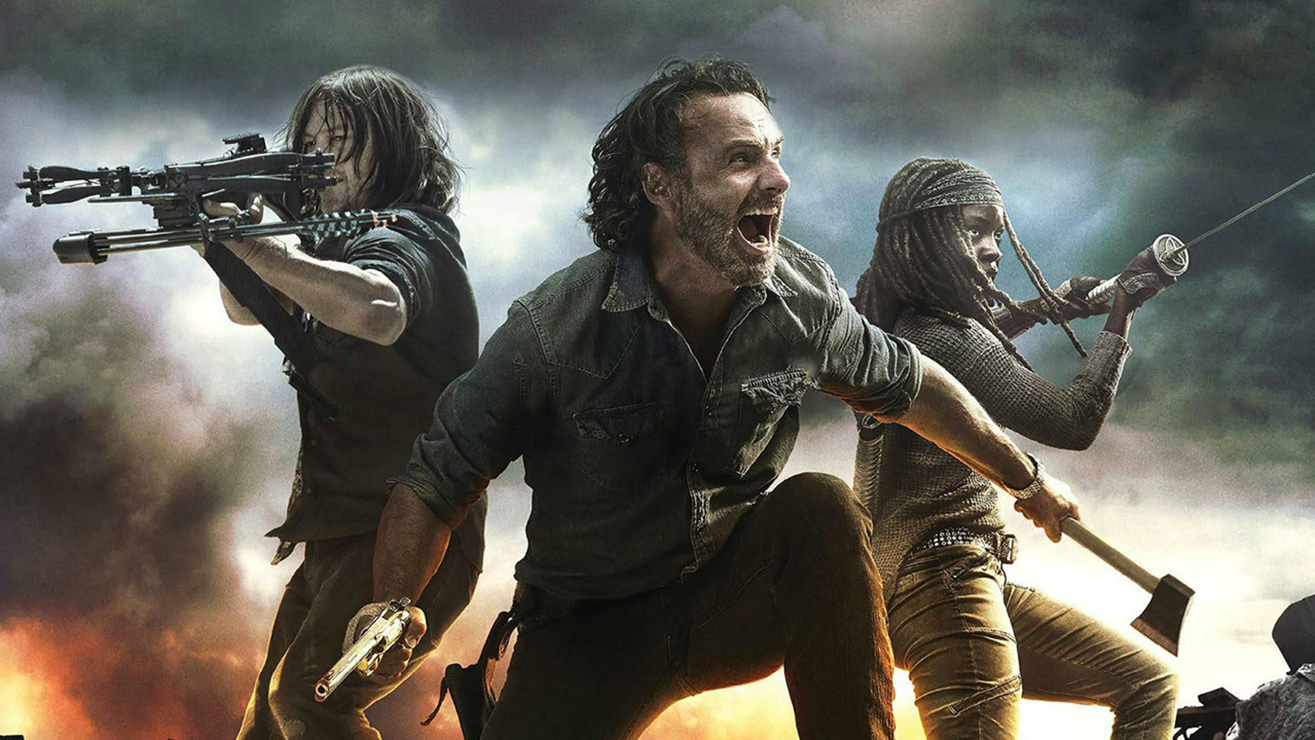"""""""The Walking Dead's"""" ratings hit an all-time low on Sunday as the AMC series hit its ninth season."""