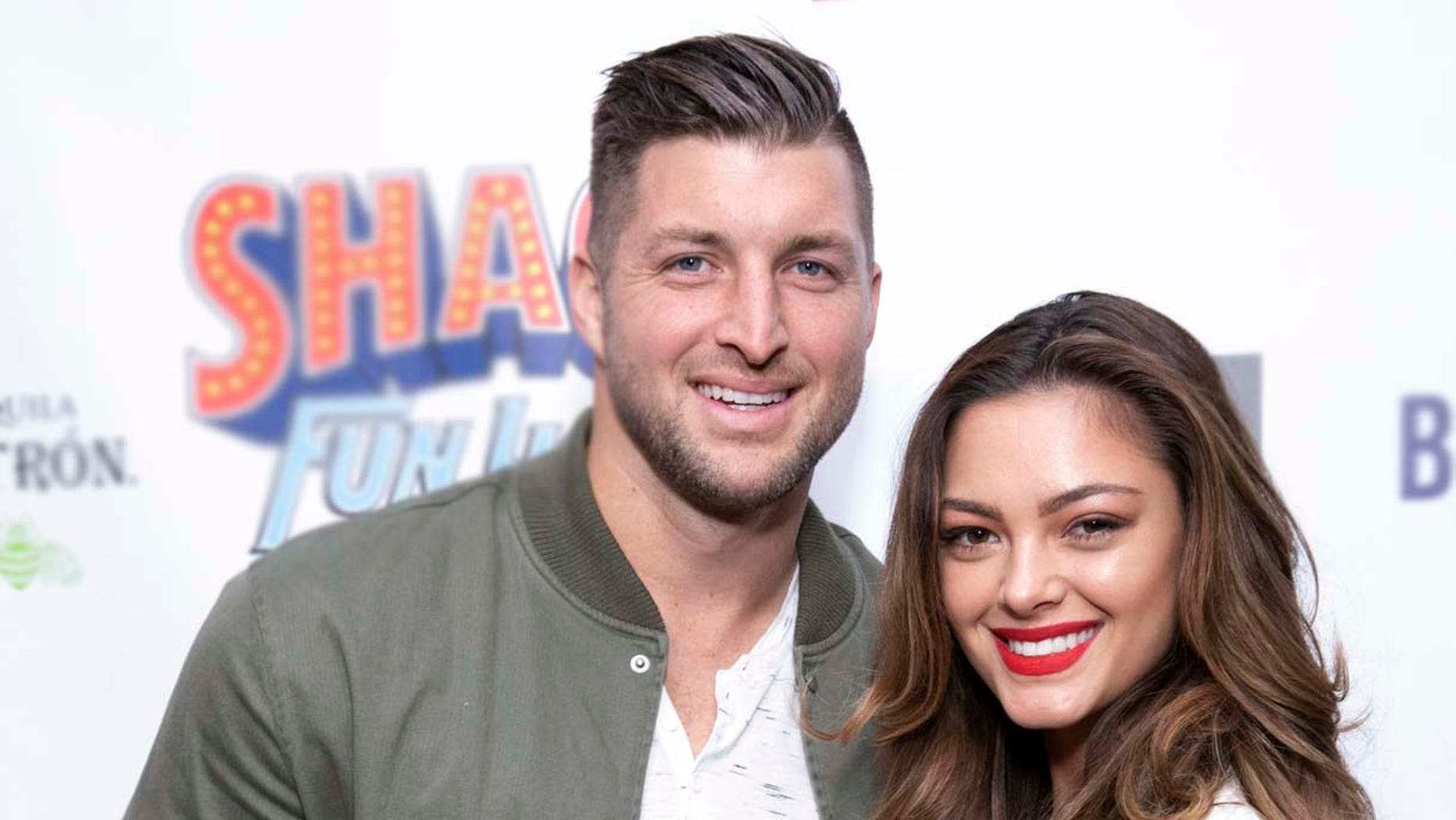 Tim Tebow and Demi-Leigh Nel-Peters arrive at Shaq's Fun House at Live! at the Battery Atlanta on Friday, Feb. 1, 2019, in Atlanta. (Photo by Omar Vega/Invision/AP)