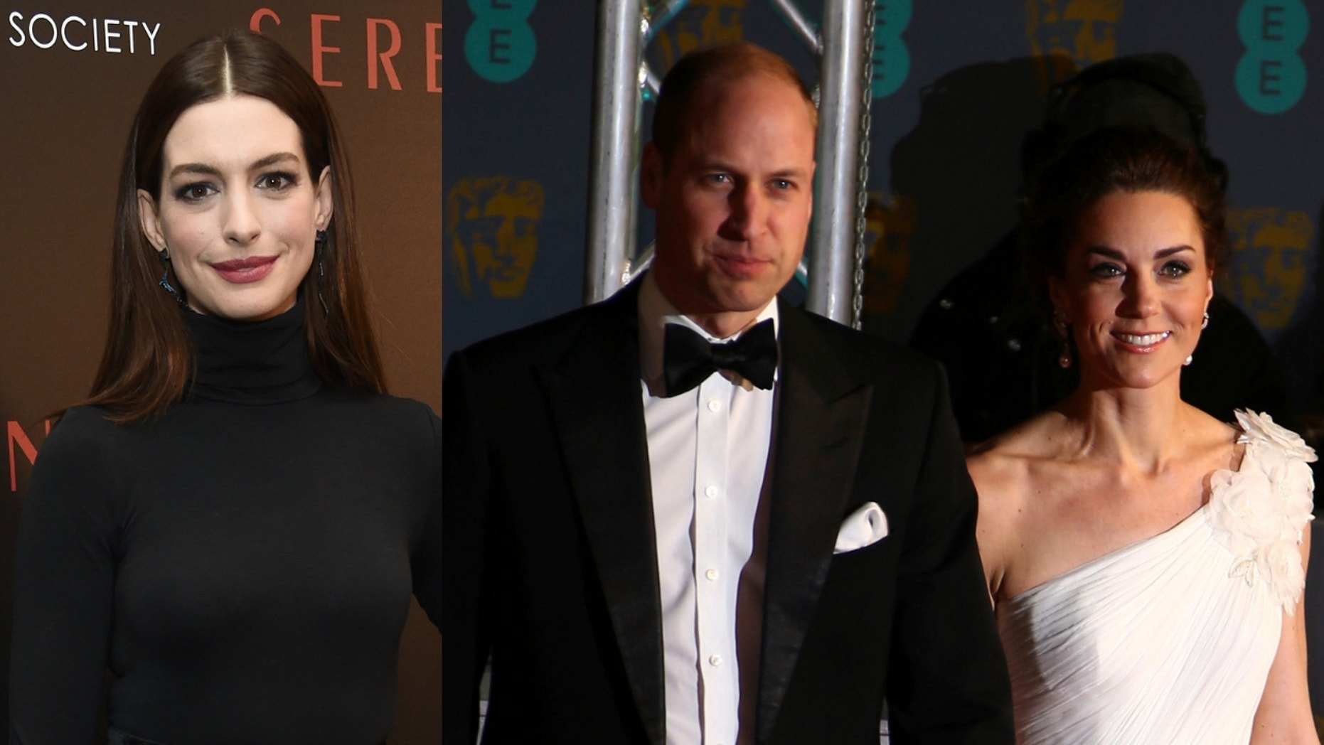 Anne Hathaway said she learned one parenting tip from Prince William and Kate Middleton.