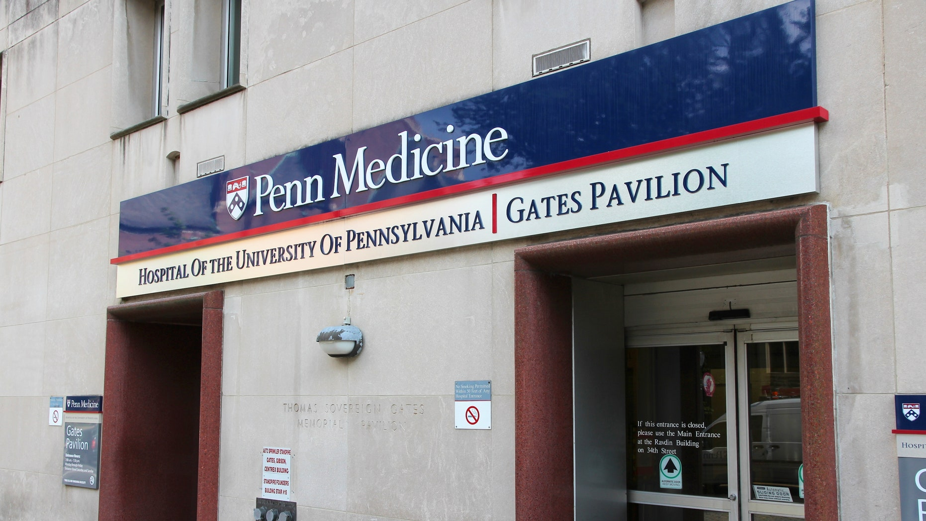 Penn Medicine says preliminary testing at the Hospital of the University of Pennsylvania indicates the person has another condition.