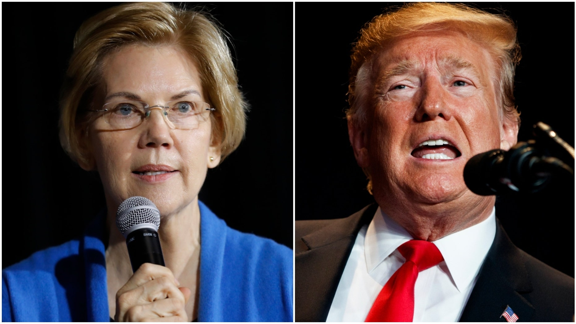 Sen. Elizabeth Warren and President Donald Trump (Photo: AP Photo/Charlie Neibergall and AP Photo/ Evan Vucci)