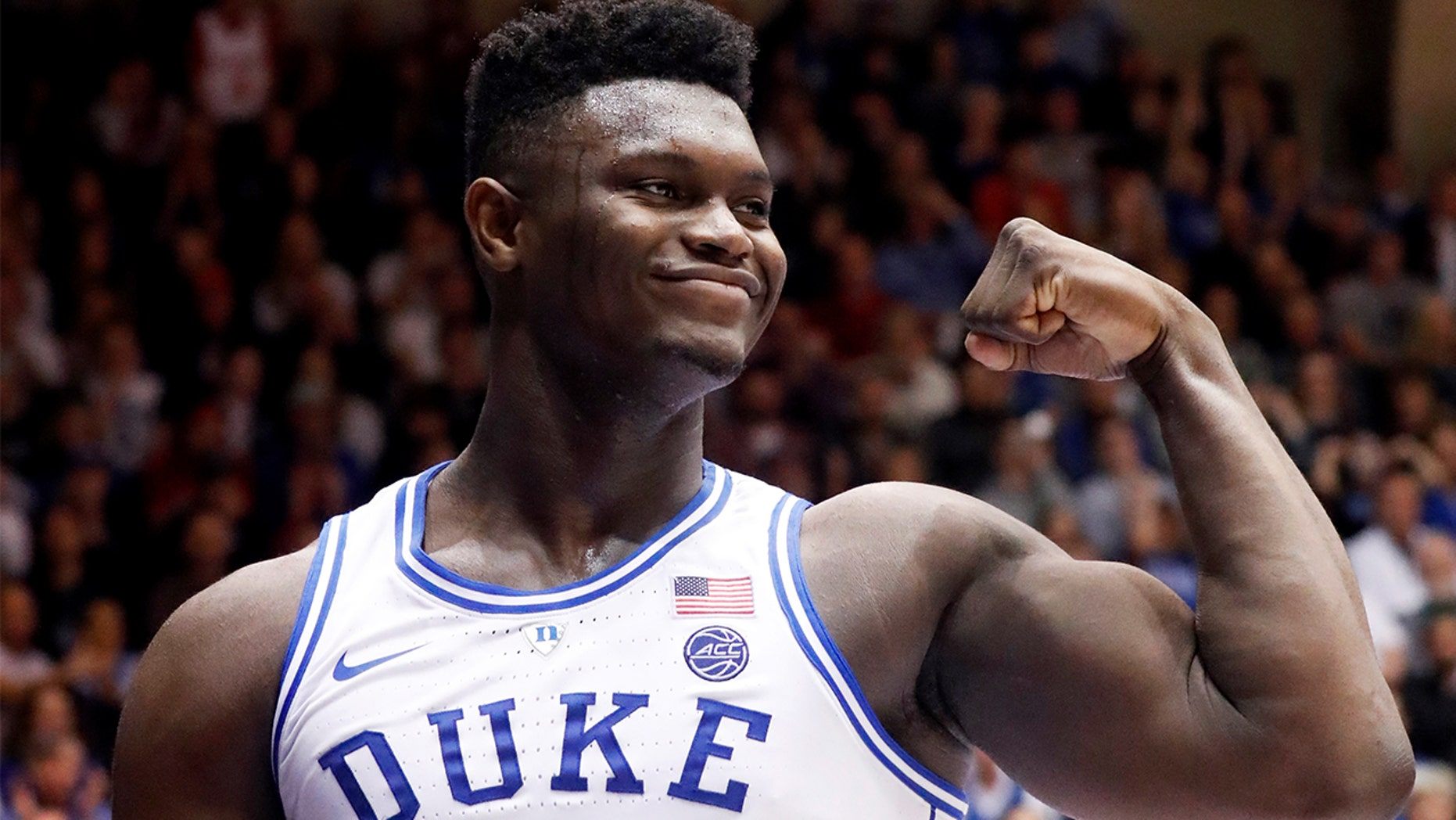 Duke's Zion Williamson destroyed his shoe during a game against the Tar Heels Wednesday night.