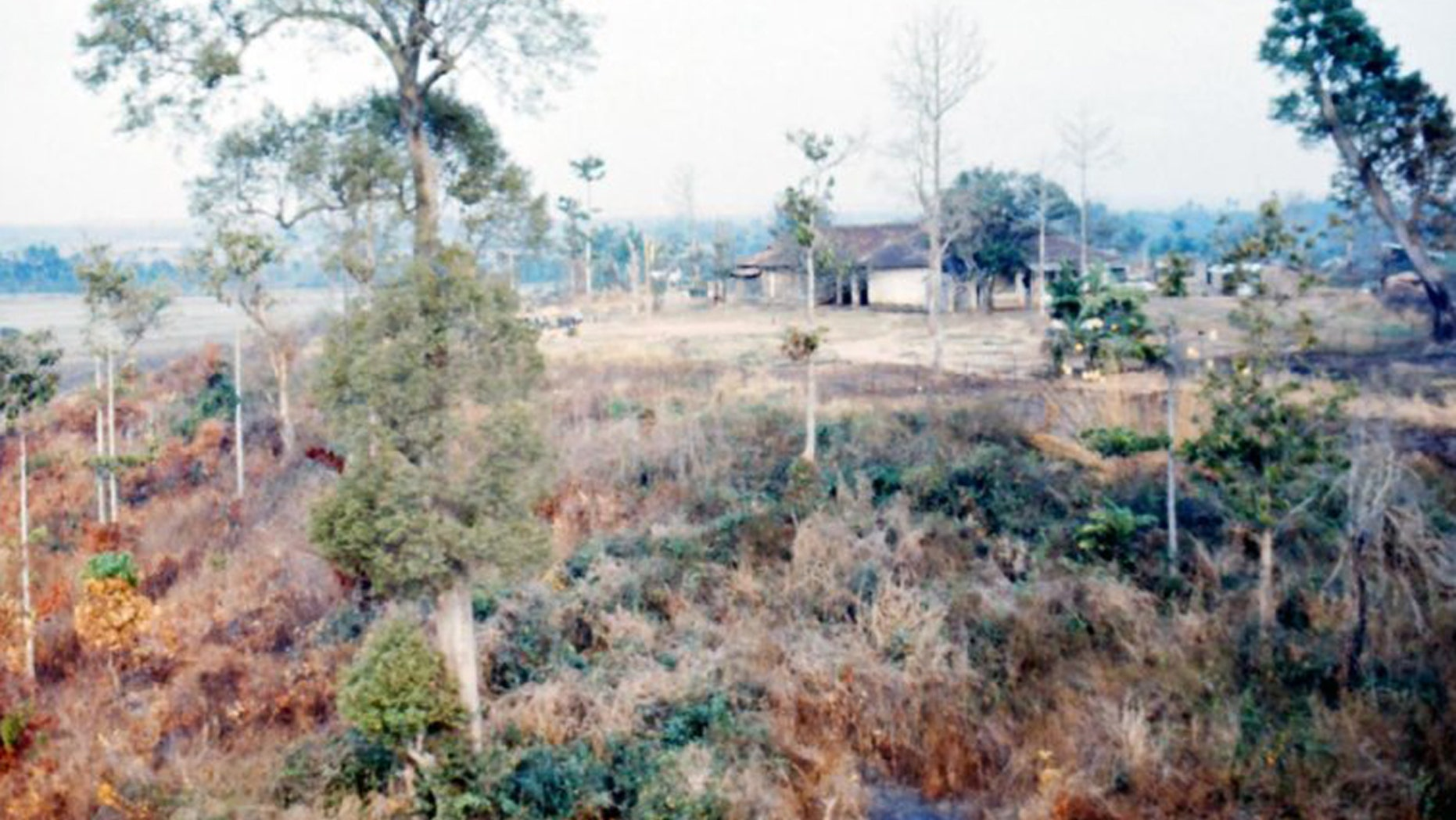 US planes sprayed 20 million gallons of herbicides throughout Vietnam during the Vietnam War. Dioxin, a contaminant of the orange agent, persists today.