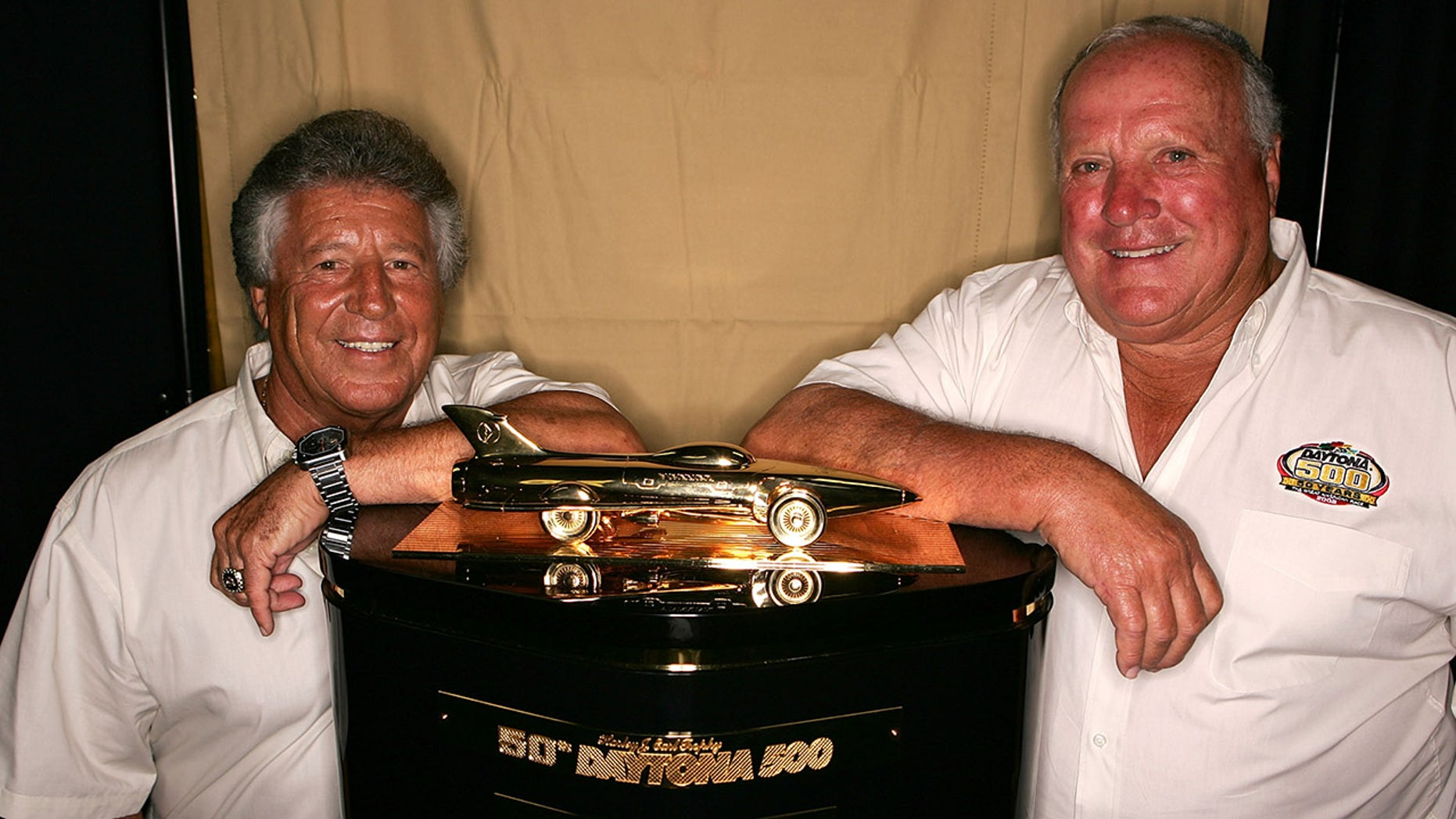 Andretti and Foyt, seen here in 2007, each have a NASCAR Daytona 500 victory to go with their open-wheel racing achievements.