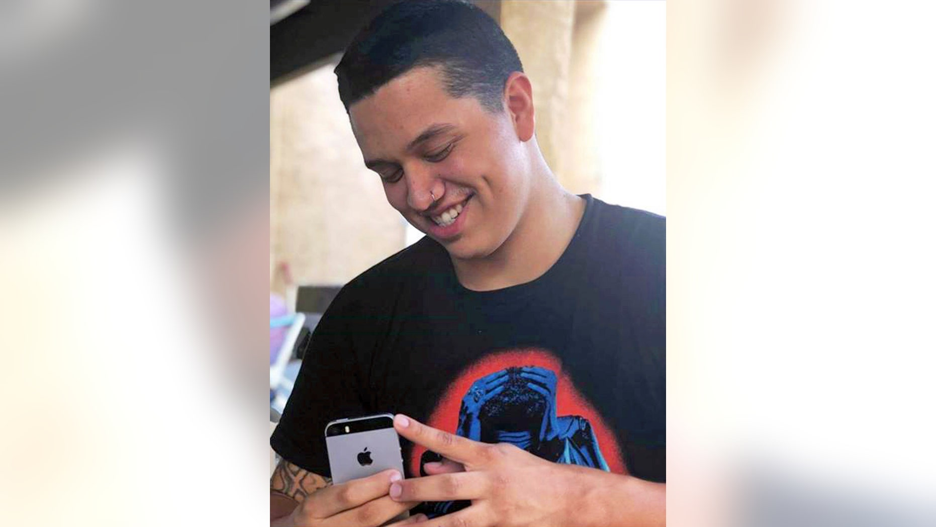This undated photo by Seanna Leilani shows her brother, Aaron Francisco Chavez. Chavez, 19, died after he swallowed sky blue fentanyl pills designed to look like oxycodone.