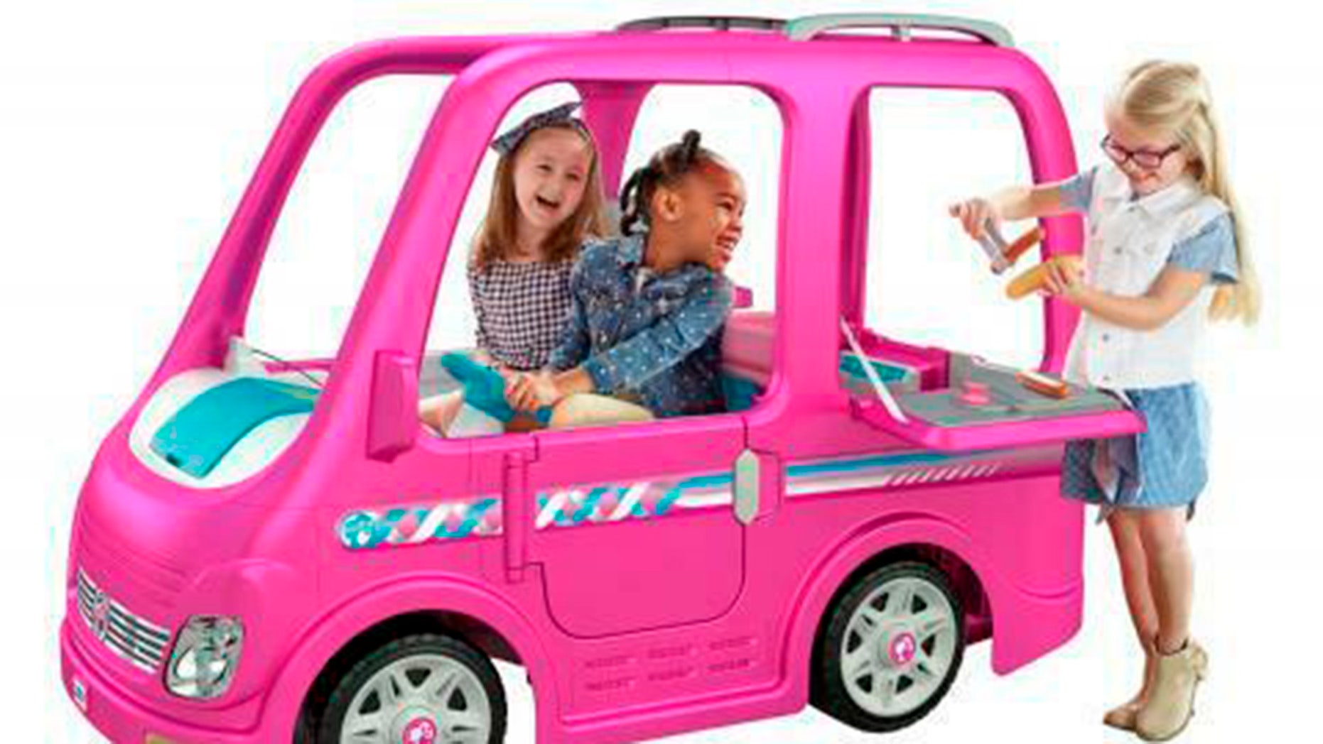 Fisher Price is voluntarily recalling about 44,000 Children's Power Wheels Barbie Dream Campers because they can keep running after the foot pedal is released. The model FRC29 battery-operated vehicles are hot pink with blue accents and have the Barbie logo printed on the back.