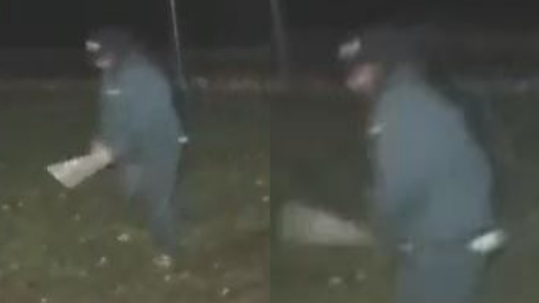 Police are looking for a bat-wielding man who attacked a woman on Long Island.