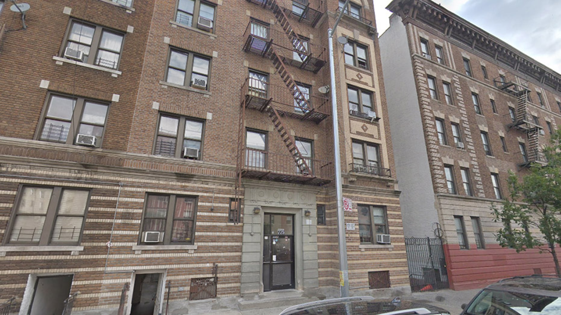 Marisol Ortiz and Alanch Del Orbe were found Sunday in this residential building in New York.