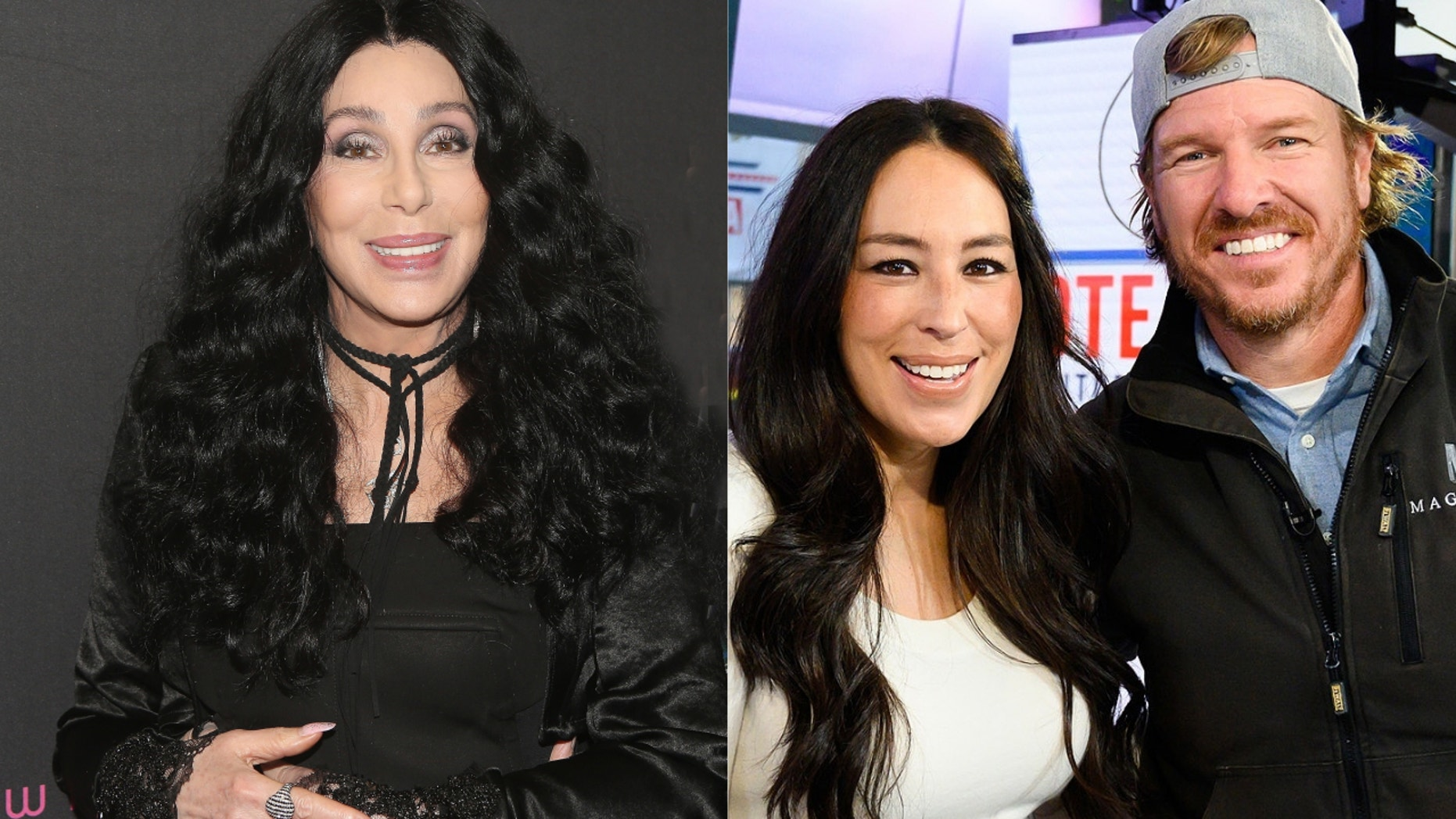 """Cher, Joanna Gaines and Chip Gaines of """"Fixer Upper"""""""