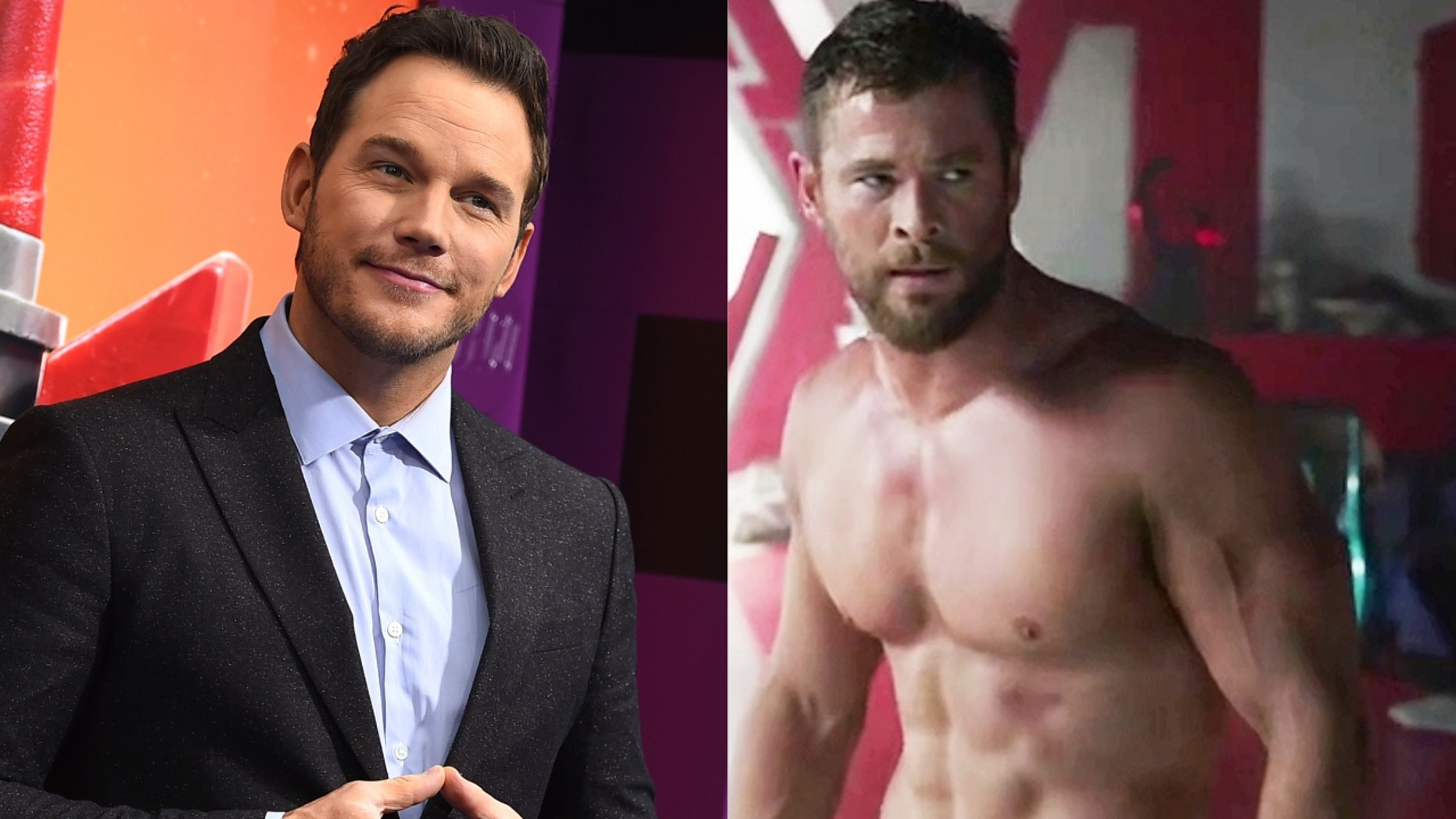 Chris Pratt and Chris Hemsworth