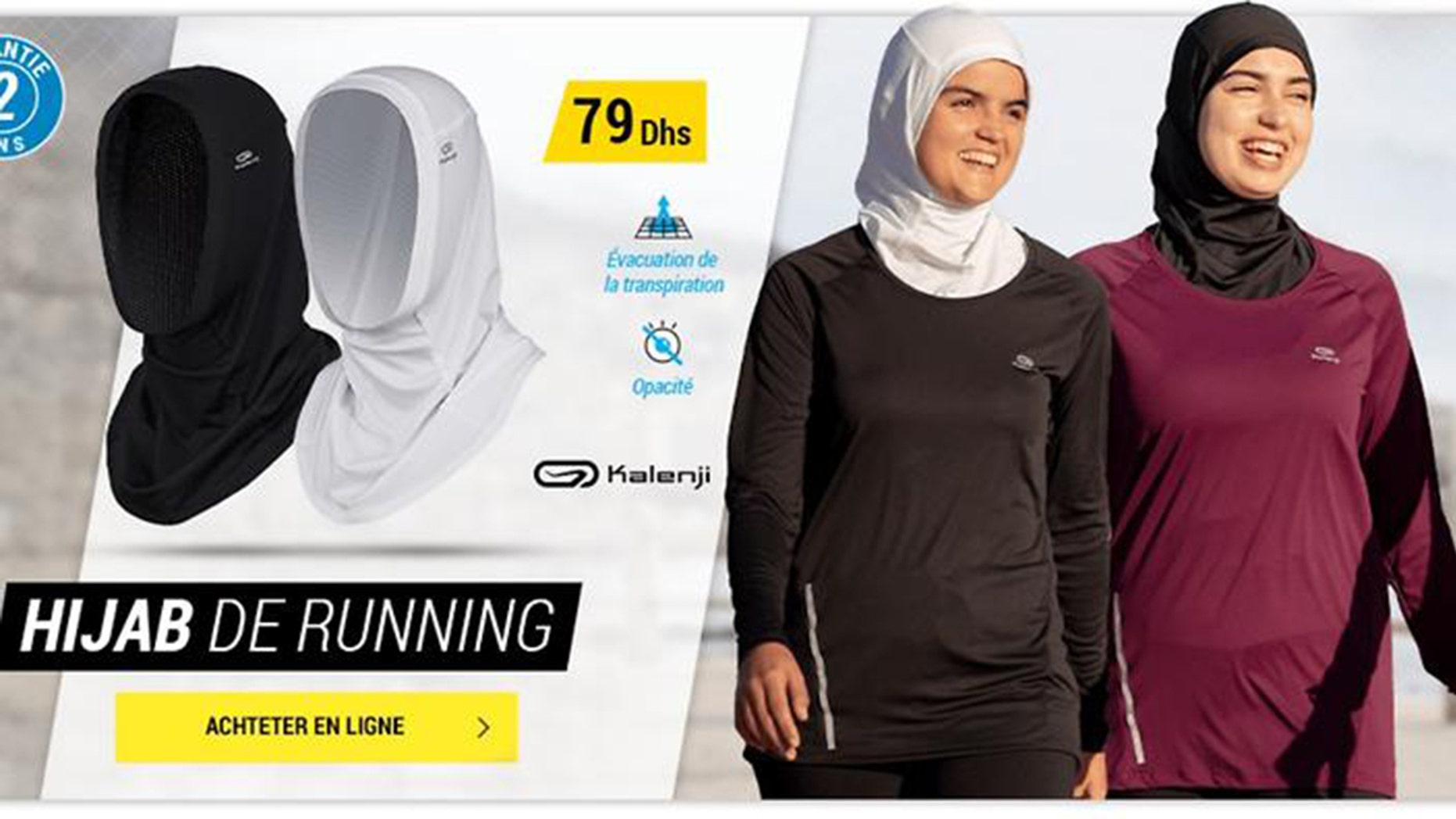 A sports goods store postpones sales of a sport hijab in France.