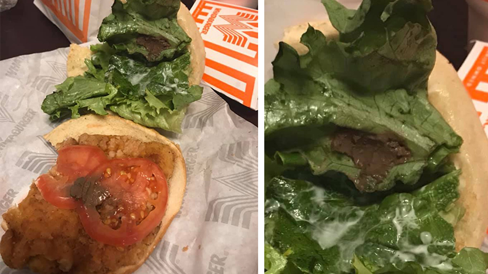 A Texas woman claims she found a clump of mud in her Whataburger sandwich.