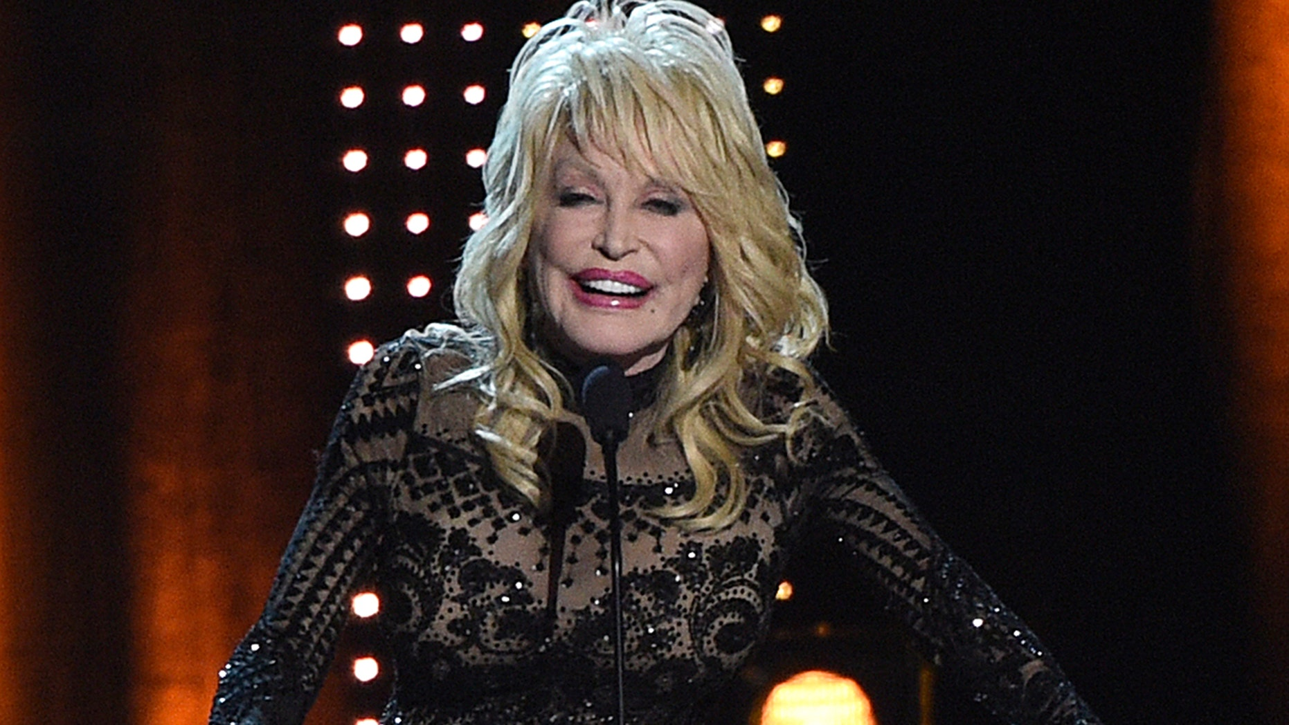 Dolly Parton Accepts Her Award At Musicares Person Of The Year On Friday Feb
