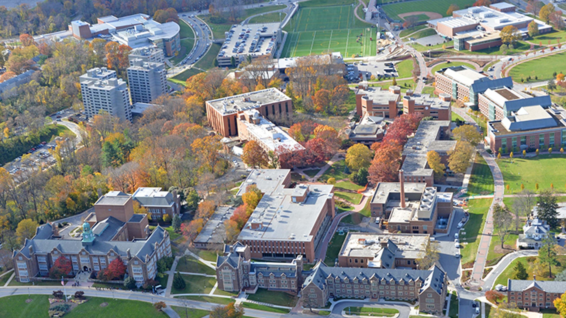 A perspective of Townson University in Maryland.