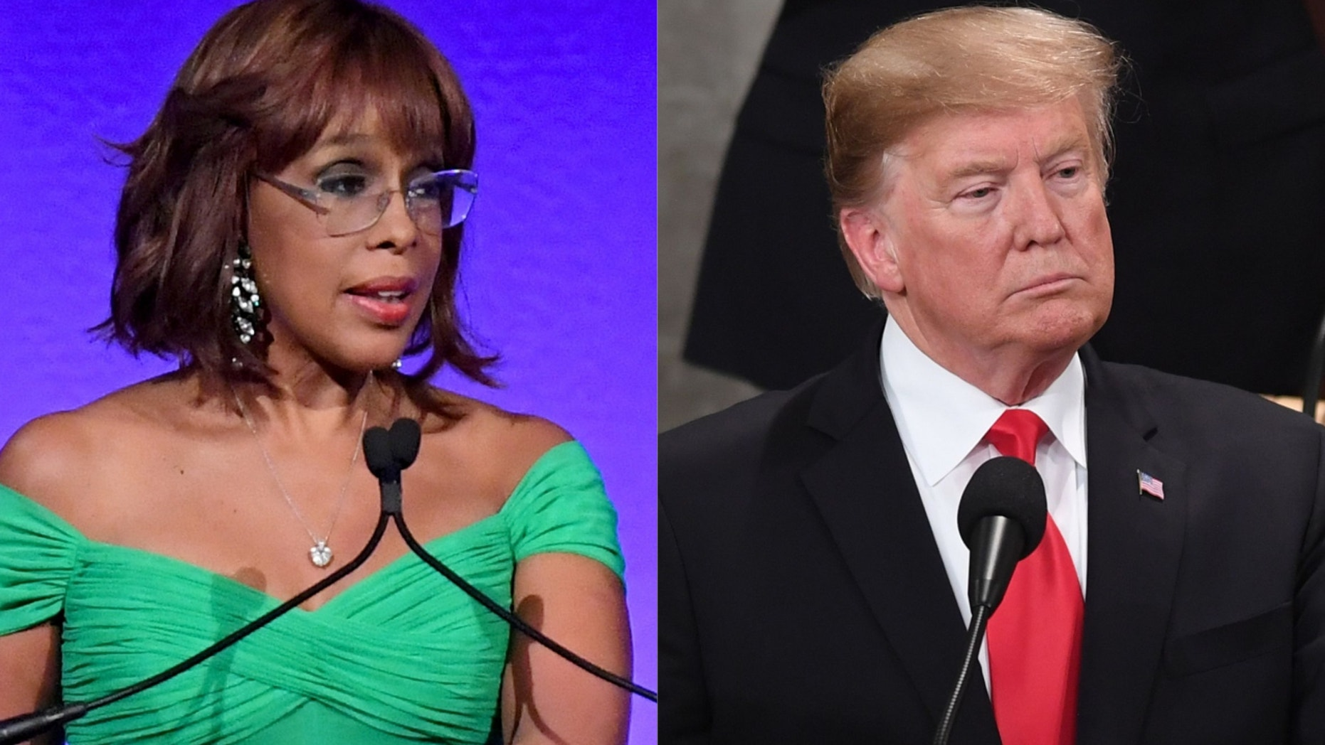 Gayle King and Donald Trump