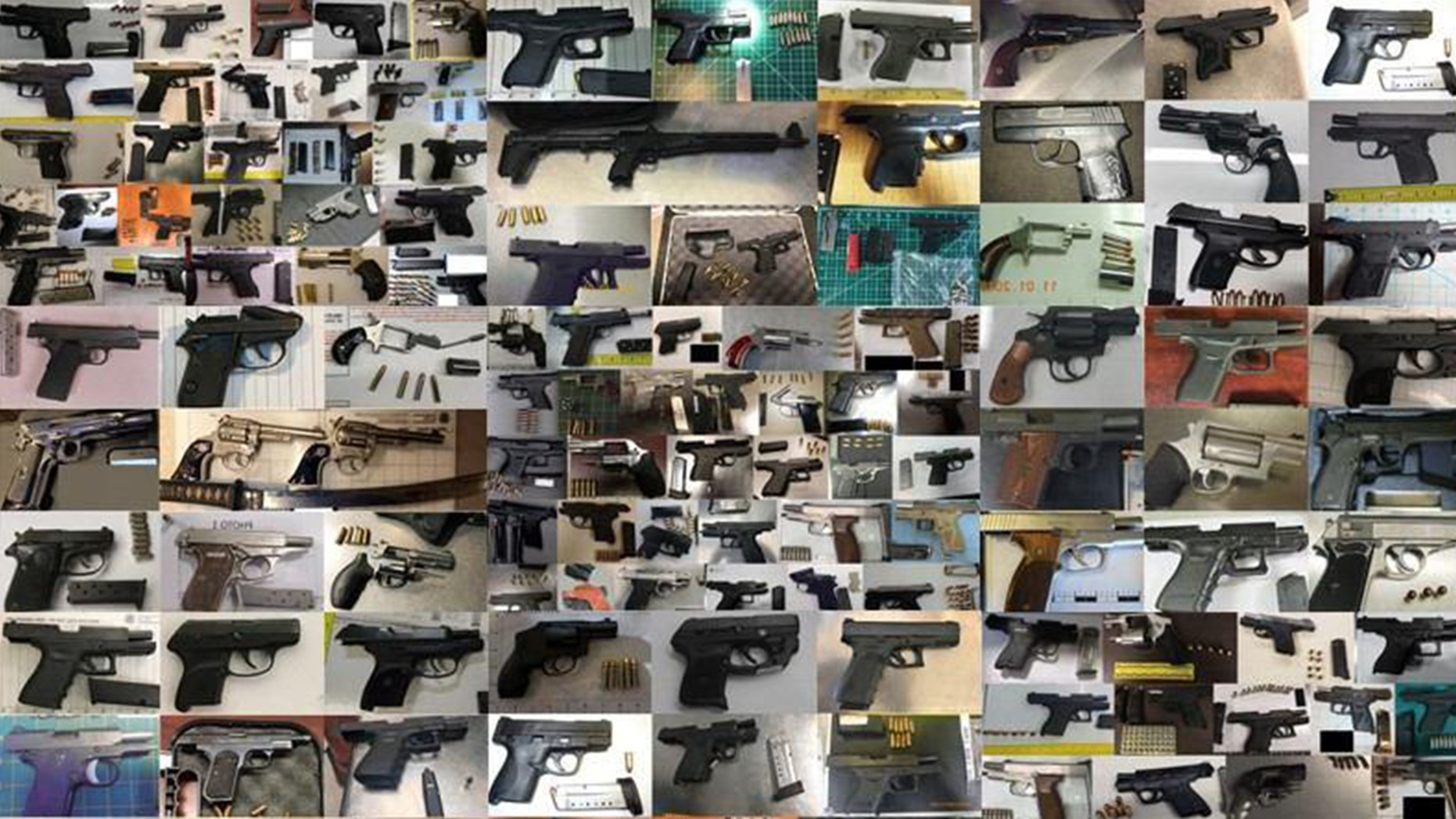 The Transportation Security Administration confiscated a record number of firearms at 279 airport checkpoints around the country.