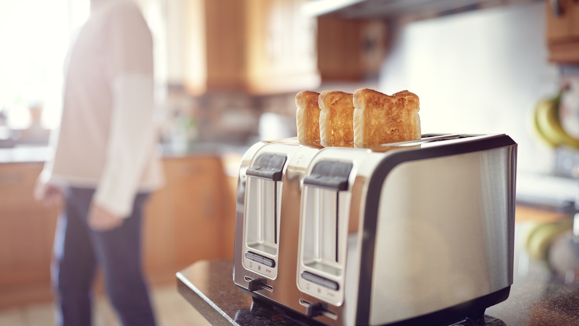 Researchers suggest only heating bread to light crisp in the toaster.