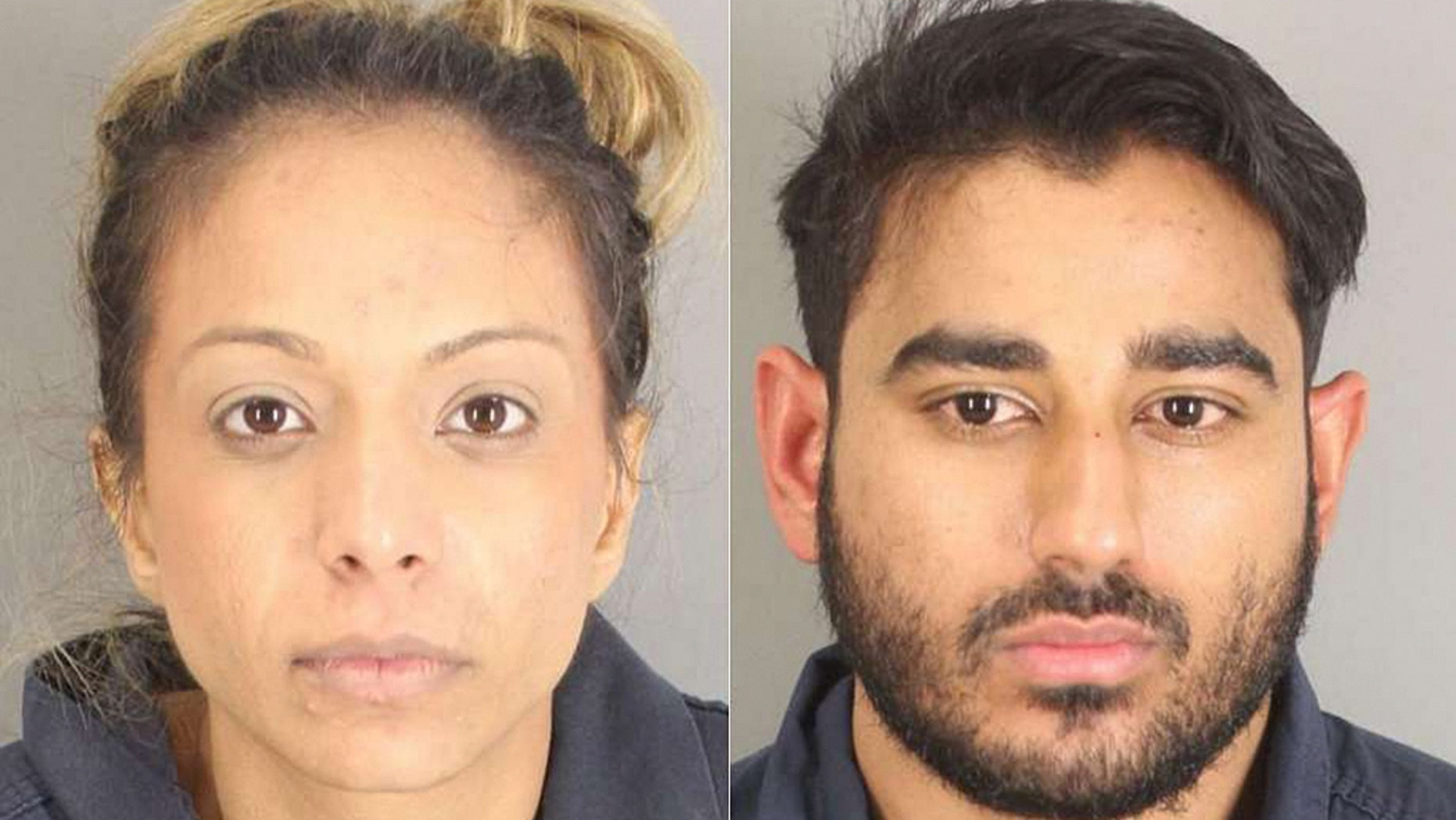 Authorities say Narueen Nooralla Gheewalla-Fayyaz, 28, (l.) and Osama Fayyaz, 29, of Richmond, Tex., were arrested on marijuana smuggling charges at a Texas airport Jan. 14, according to a report.