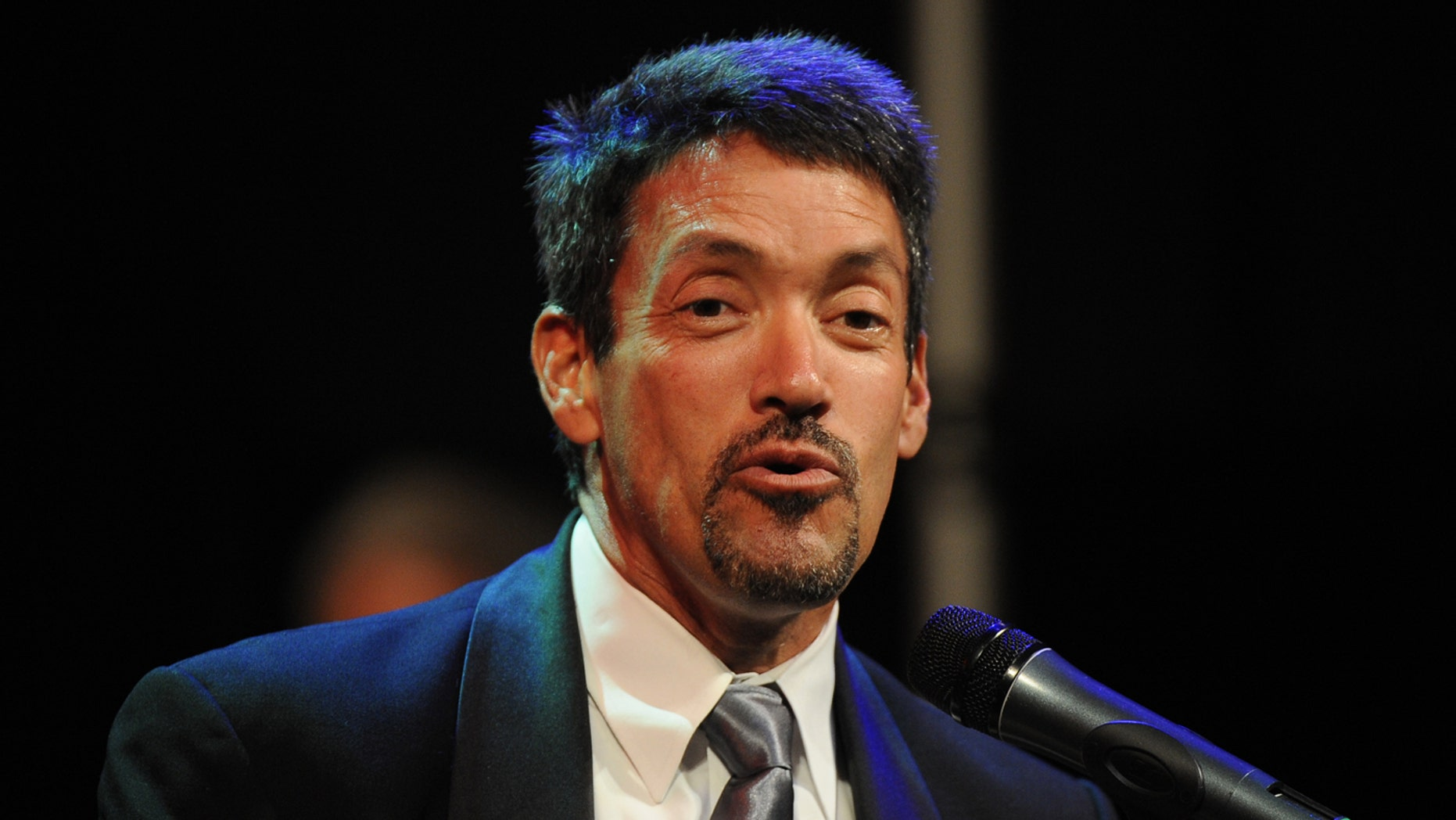 West Hollywood Mayor John J. Duran speaks at a campaign fundraiser event for U.S. President Barack Obama at the House of Blues on the Sunset Strip on September 26, 2011, in West Hollywood, California.