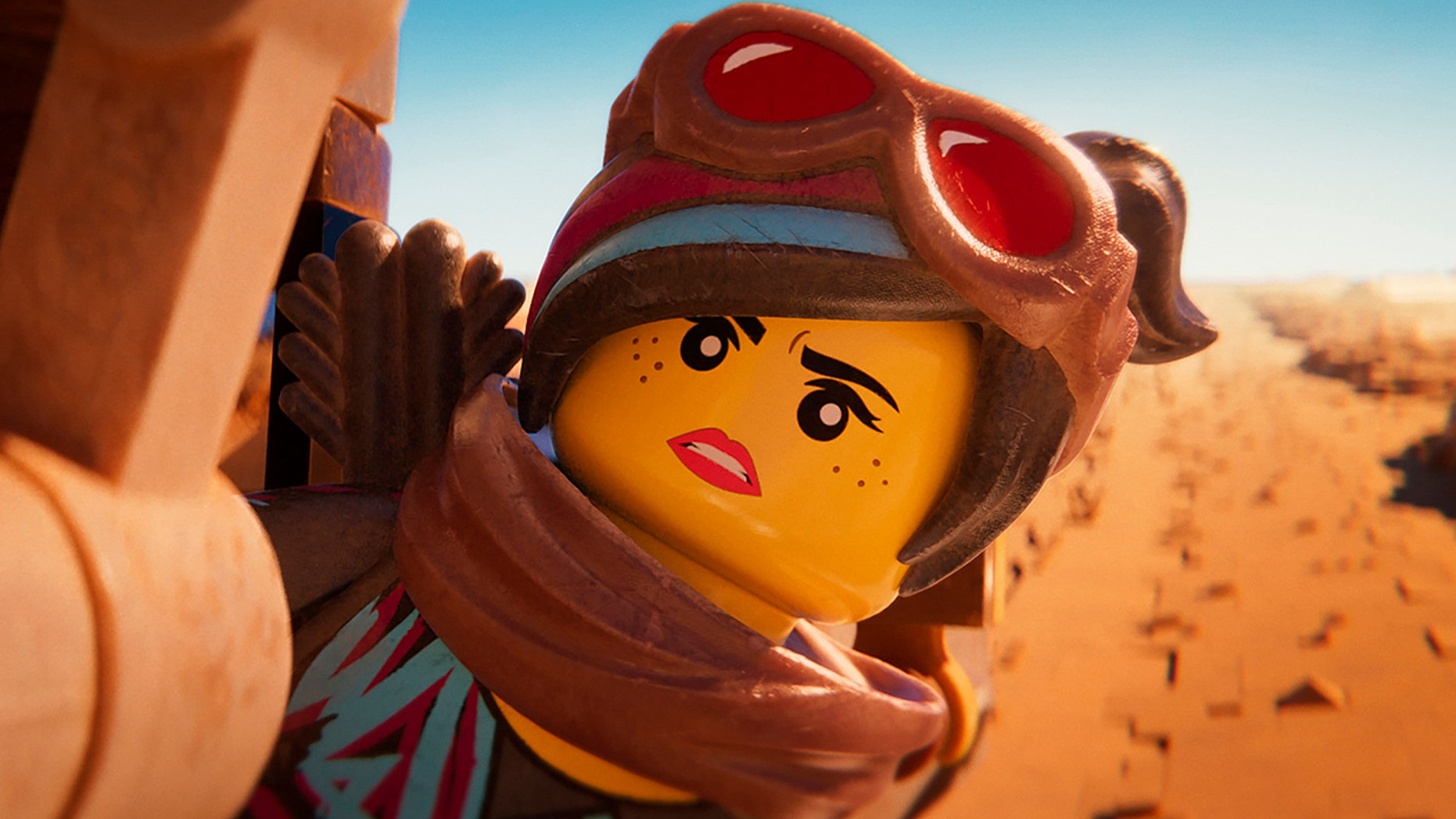 "This image released by Warner Bros. Pictures shows the character Lucy/Wyldstyle, voiced by Elizabeth Banks, in a scene from ""The Lego Movie 2: The Second Part."" (Warner Bros. Pictures via AP)"