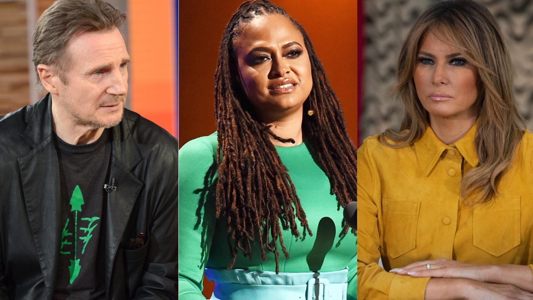 Liam Neeson, Ava DuVernay and Melania Trump