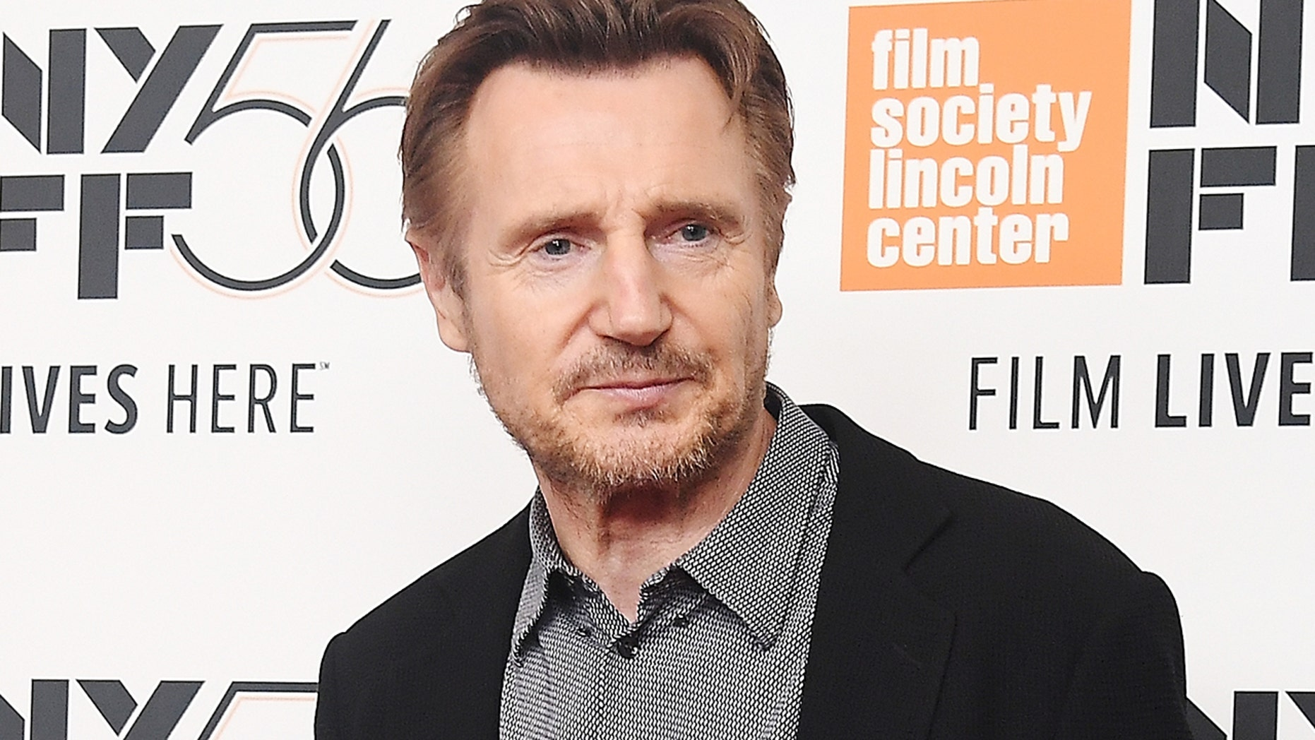 """Liam Neeson attends the screening of """"The Ballad of Buster Scruggs"""" during the 56th New York Film Festival at Alice Tully Hall, Lincoln Center on October 4, 2018 in New York City."""