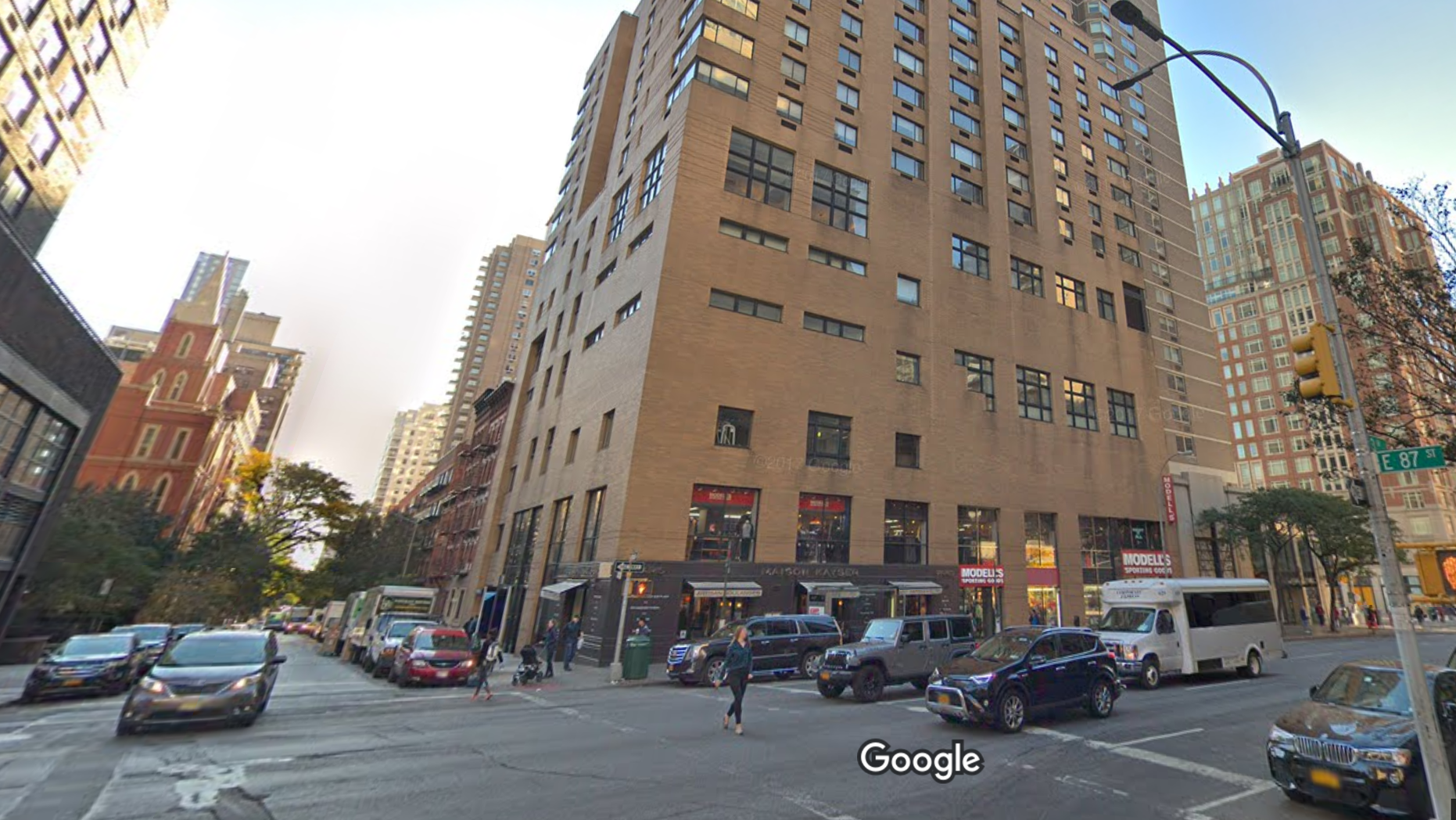 The apartment building from which the man fell.Michael Courtian, 55, was working on a window in the living room of his apartment located on East 87th Street and 3rd Avenue when he lost his balance and fell.