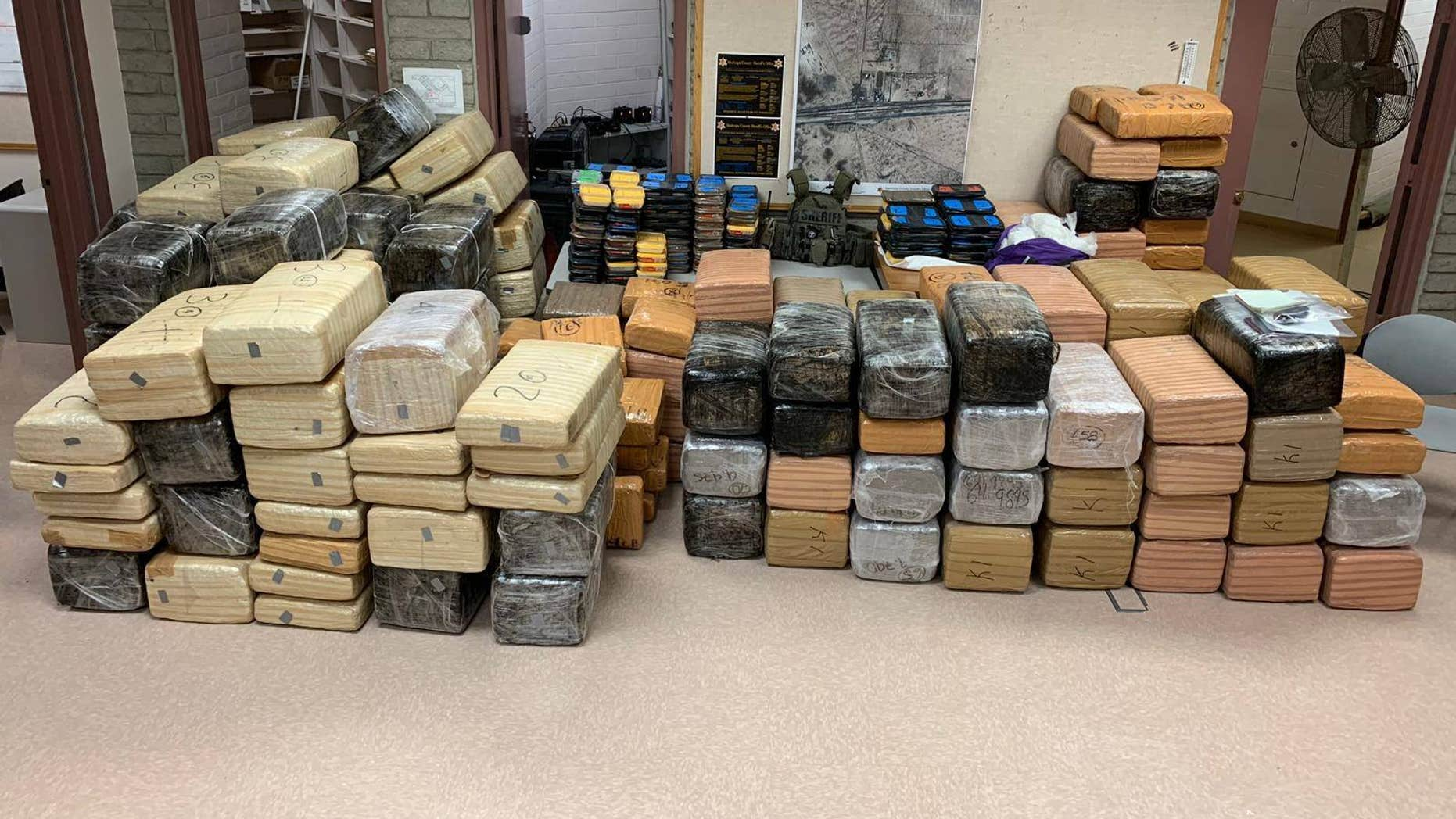 An estimated $2 million worth of methamphetamine and marijuana was seized in Arizona this week, officials said Friday.