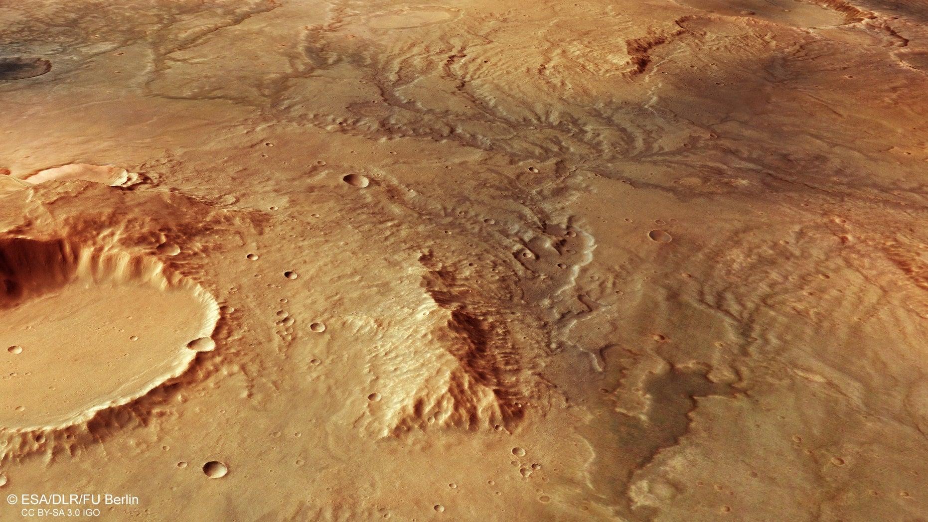 Mars had rivers dotting its landscape billions of years ago.
