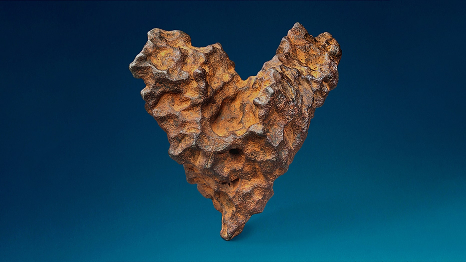 """The British auction house is calling the meteorite """"The Heart of Space."""""""