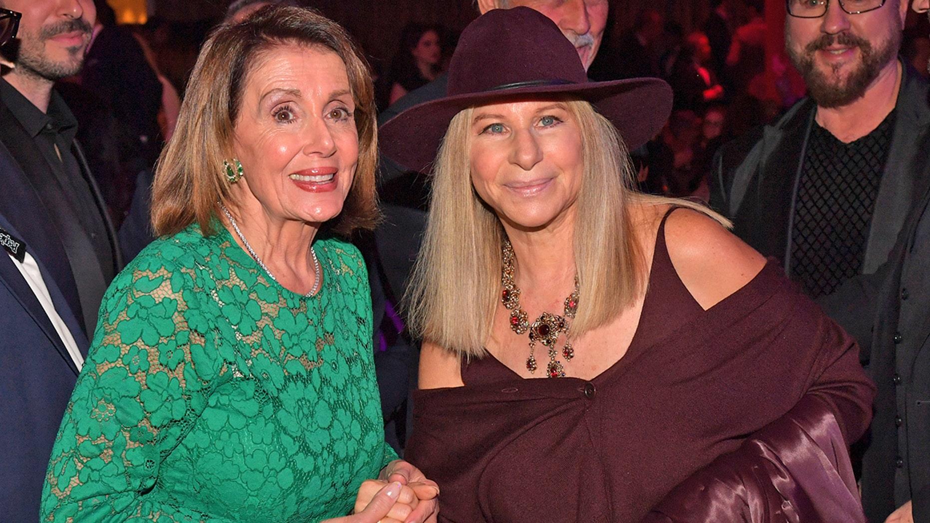 Nancy Pelosi and Barbra Streisand