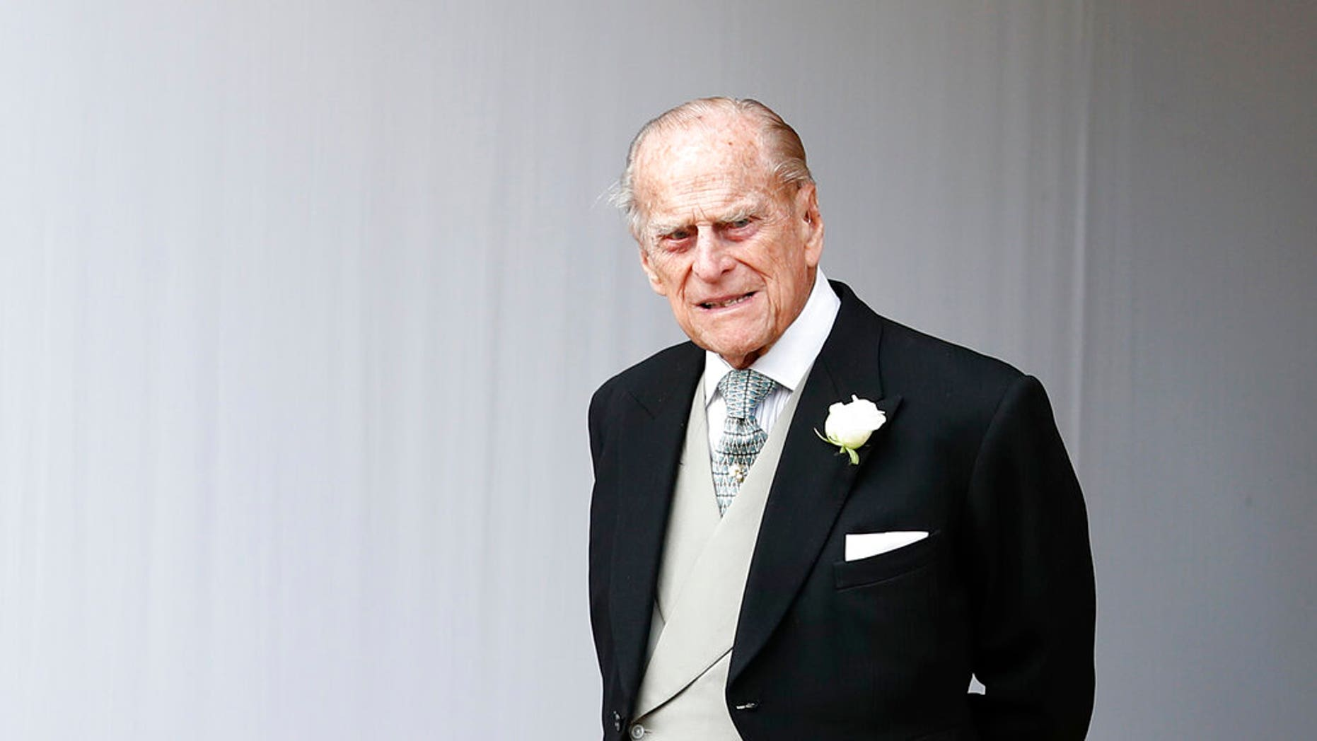 Prince Philip, pictured here in October 2018, was involved in a collision last month.  (AP Photo/Alastair Grant, Pool, File)