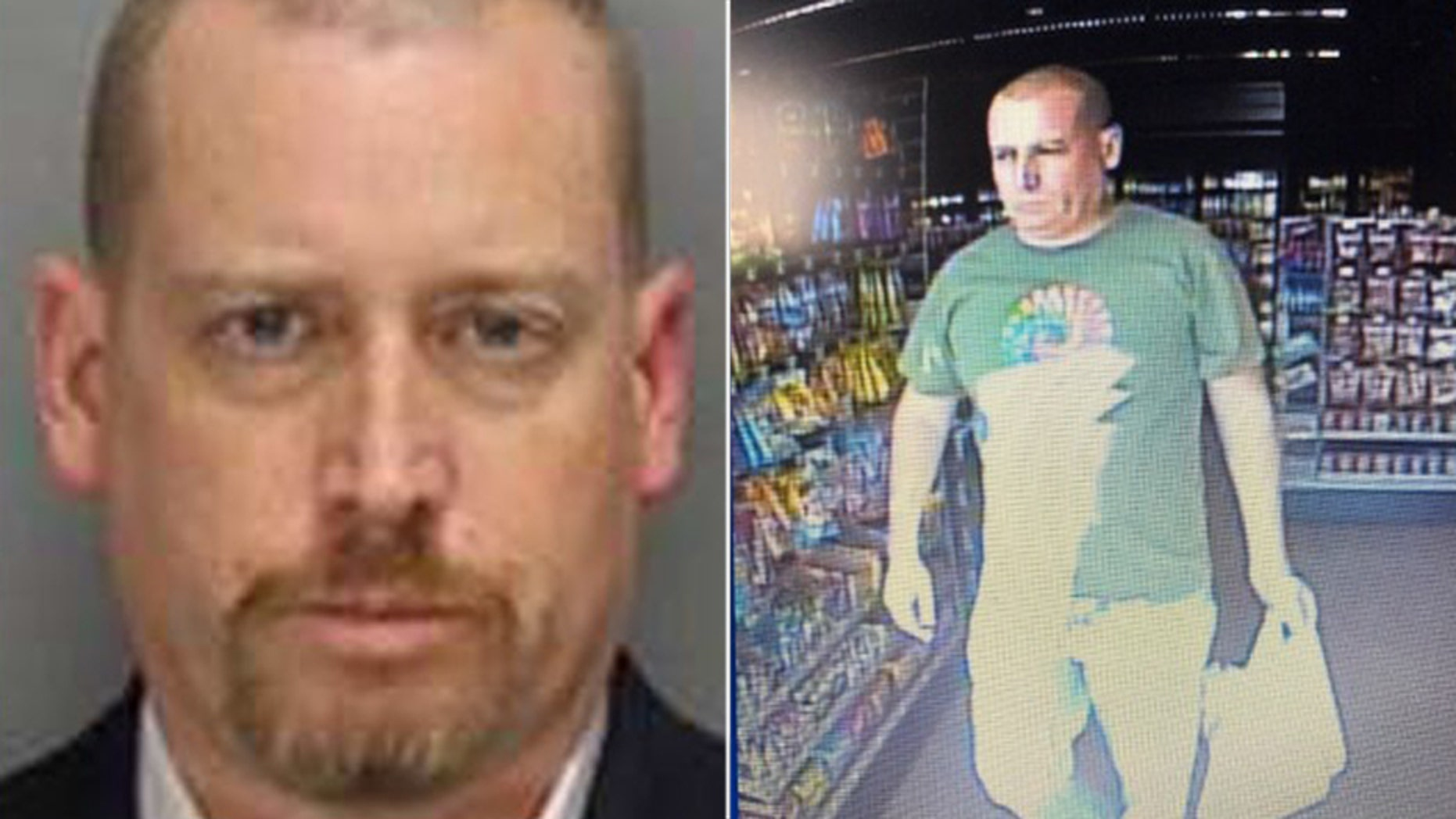 Photos of Richard Merritt. U.S. Marshals on Saturday released the photo on right showing Merritt with a goatee that was taken recently at in the Atlanta area.