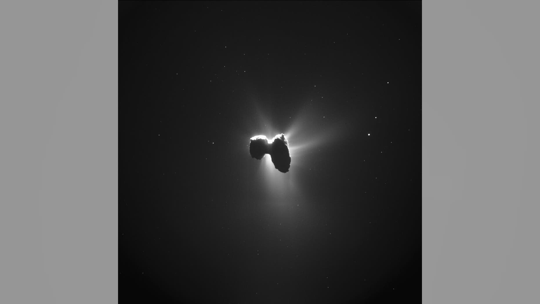 Rosetta made this image of the comet as it approached