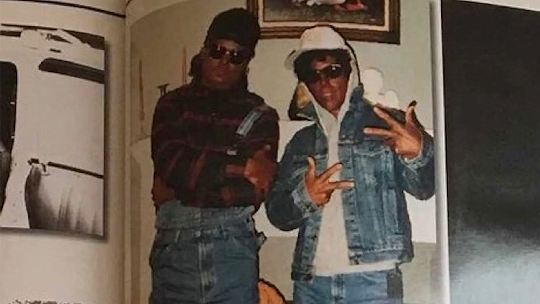 Two Baton Rouge, La., police officers are seen wearing blackface as part of an undercover narcotics operation in 1993. The photo of the two officers resurfaced this week.