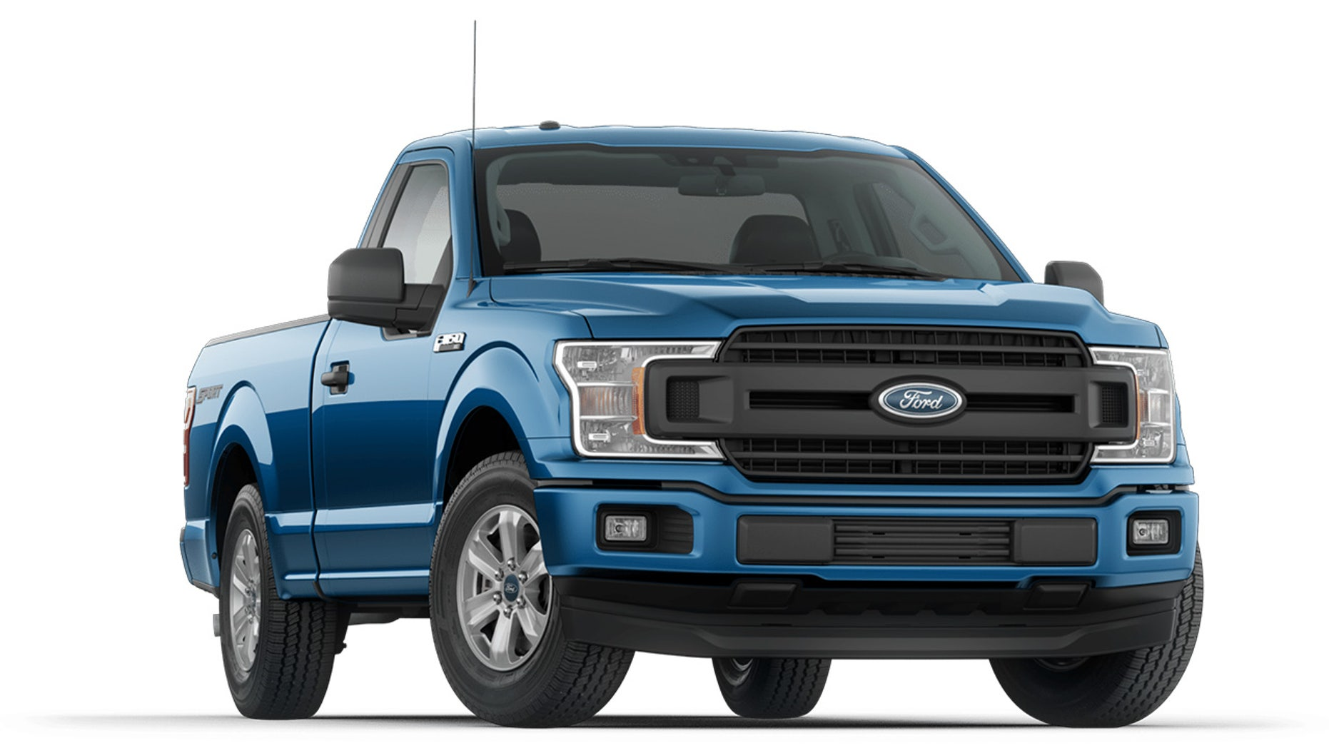 The price includes 2WD F-150 Regular Cab XT Sport like this one in Velocity Blue.