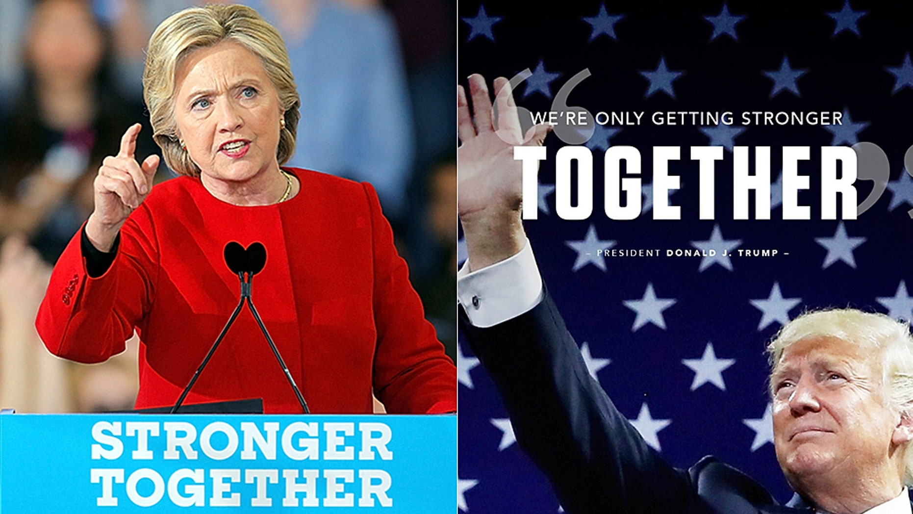 "Speaking about his love for Texas, Trump told his supporters: ""It's been a great romance.""And we're only getting stronger together."" However, many were quick to point out Hillary Clinton's failed 2016 campaign used the same phrase as its official slogan."