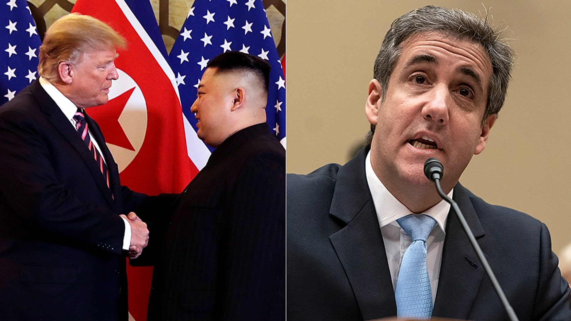 CNN and MSNBC primetime hosts didn't think the Hanoi summit was as newsworthy as Michael Cohen's testimony.
