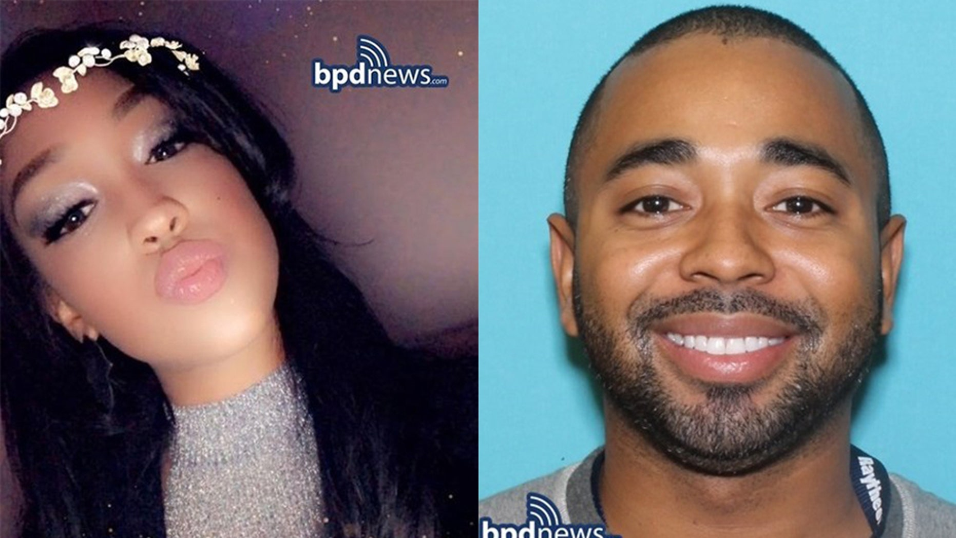 Boston police have identified a suspect, Louis D. Coleman III, 32, [right] who is wanted in connection with a missing mother, Jassy Correia, 23, [left] who was last seen leaving a nightclub early Sunday.