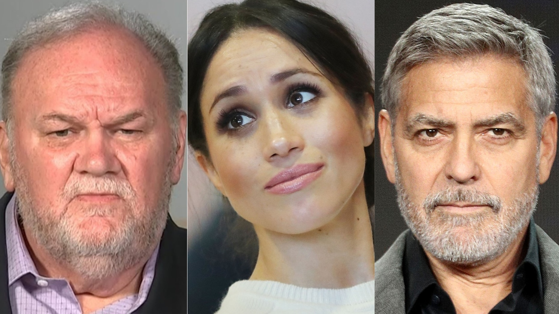 Thomas Markle, Meghan Markle and George Clooney
