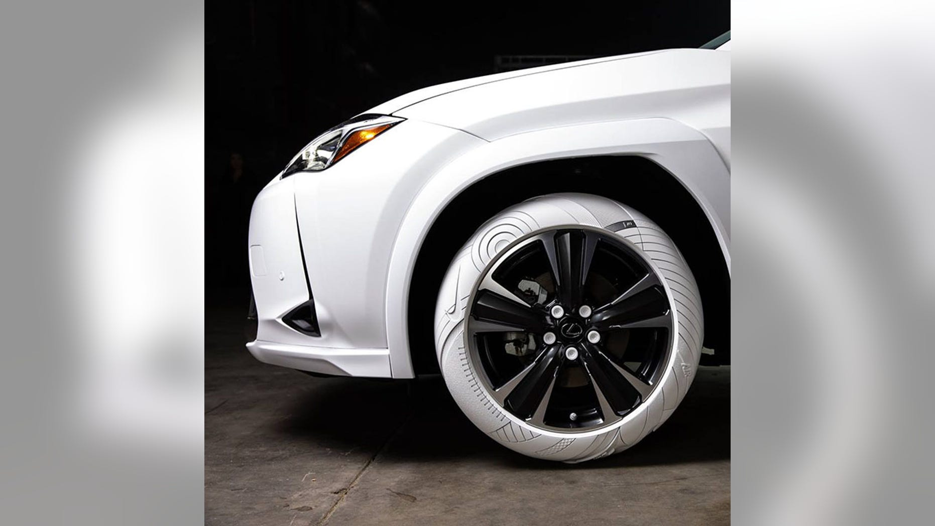 Forget Whitewalls Lexus Has A Car With All White Tires
